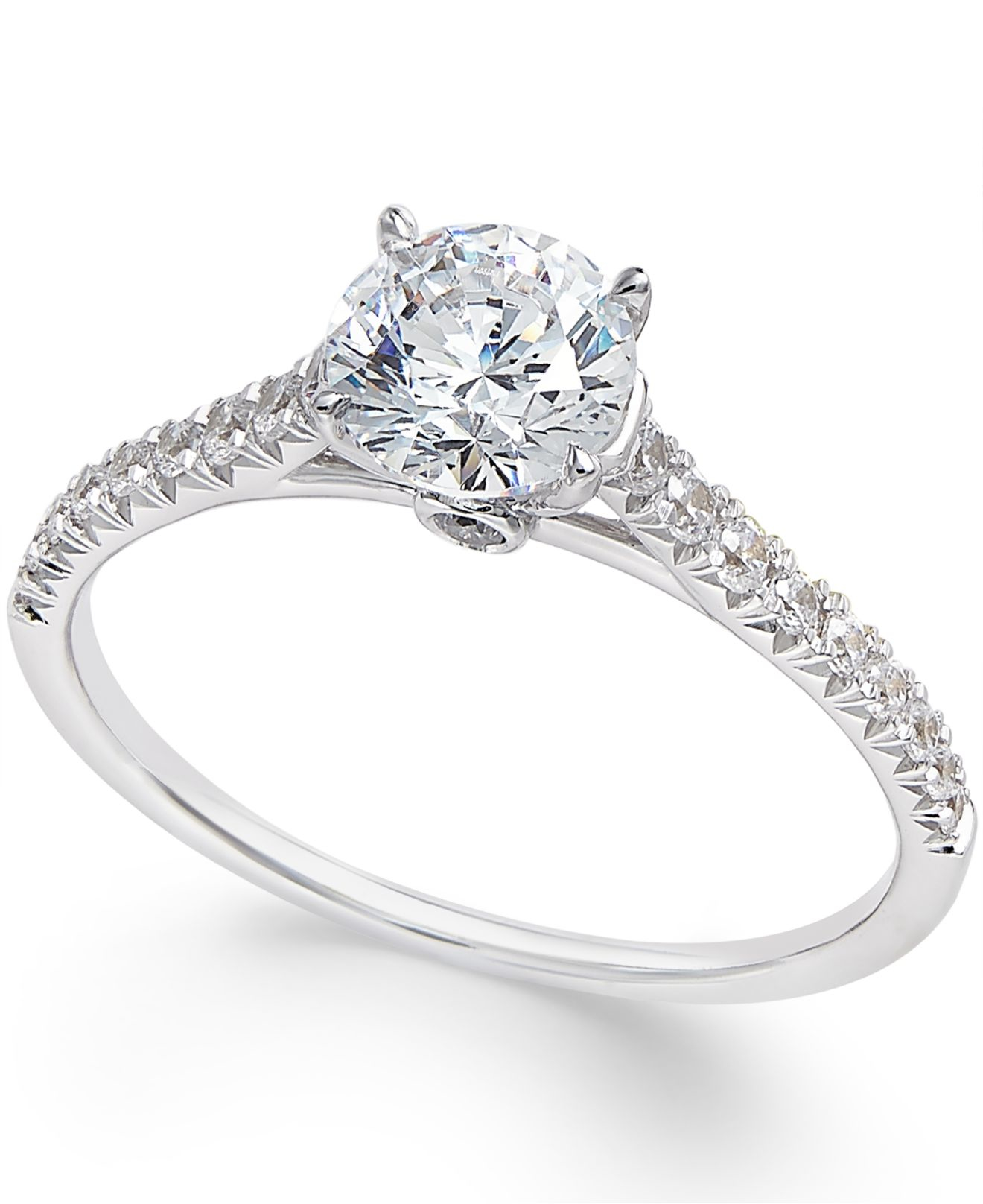 Macy s Diamond Engagement Ring 1 Ct T w In 14k White Gold in Metallic