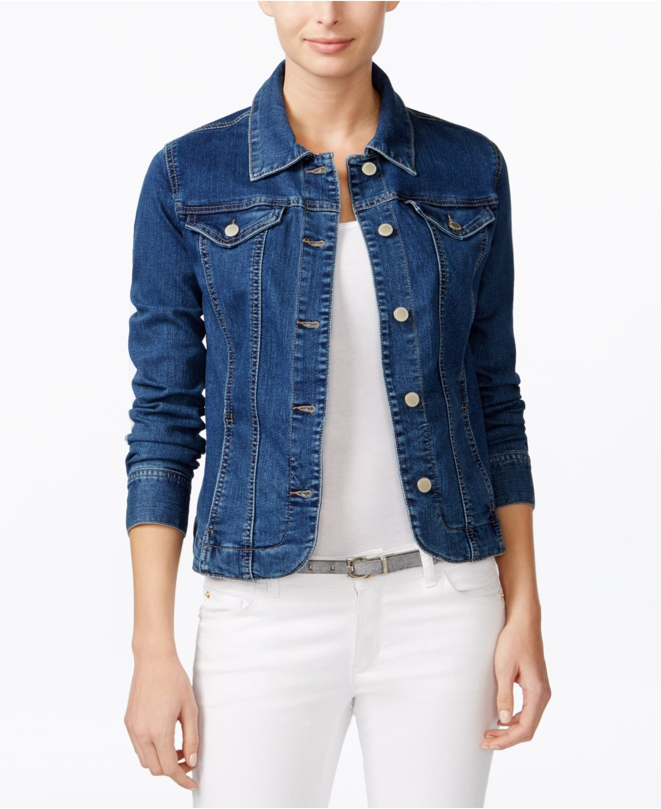 Charter club Denim Jacket Only At Macyu0026#39;s in Blue ...