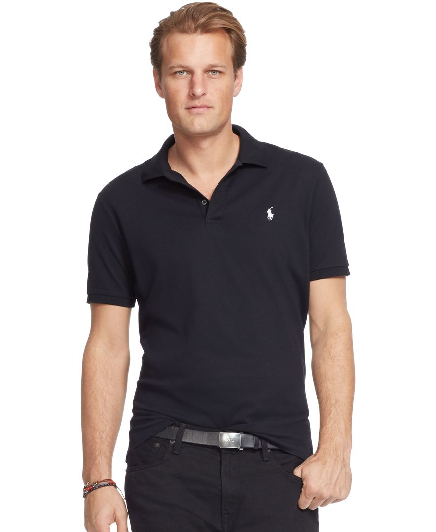Polo ralph lauren men 39 s big and tall classic fit stretch for Stretch polo shirt mens