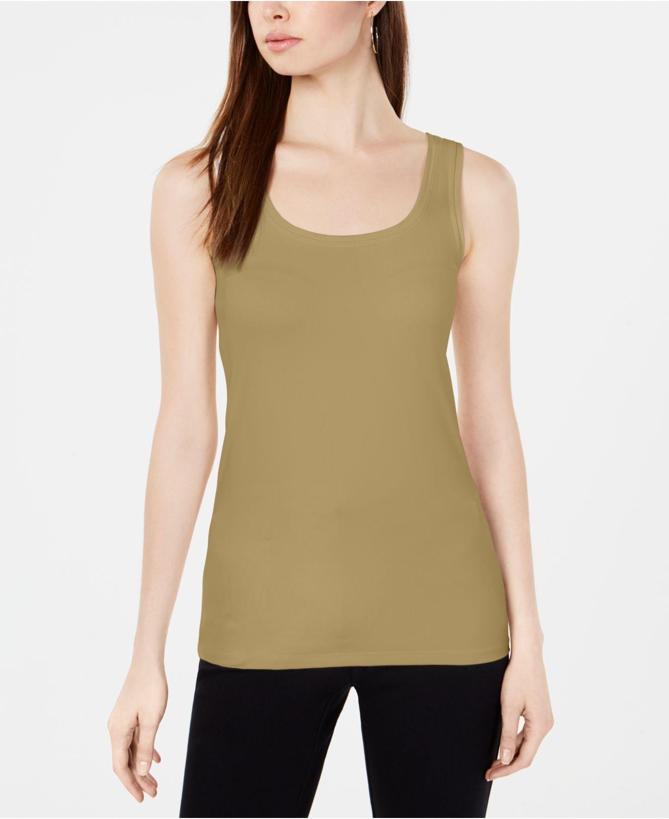 29ef67a69fe71 Alfani. Women s Green Scoop-neck Basic Tank ...