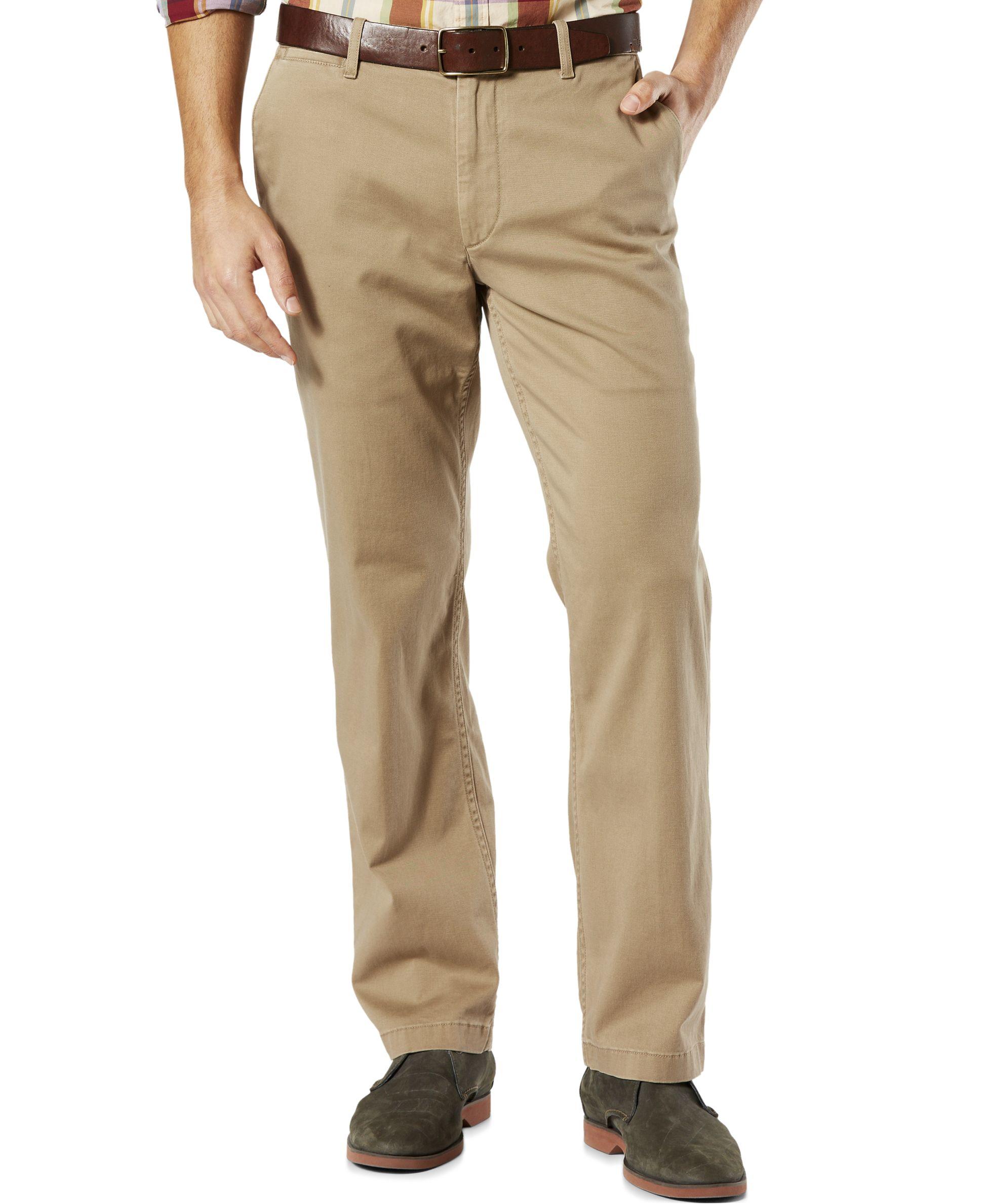 Wonderful Dockers Classic Fit Khaki Pants In Brown For Men Dark Beige  Lyst