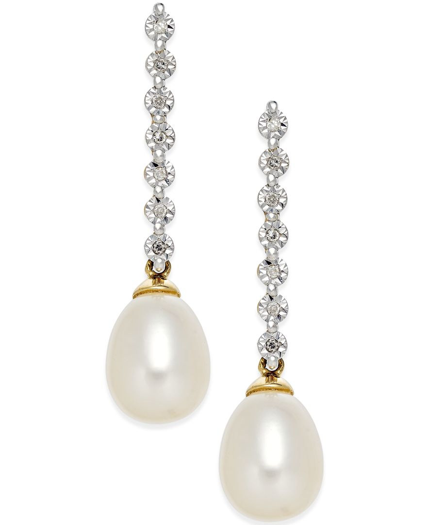 macy s cultured freshwater pearl 7mm and accent