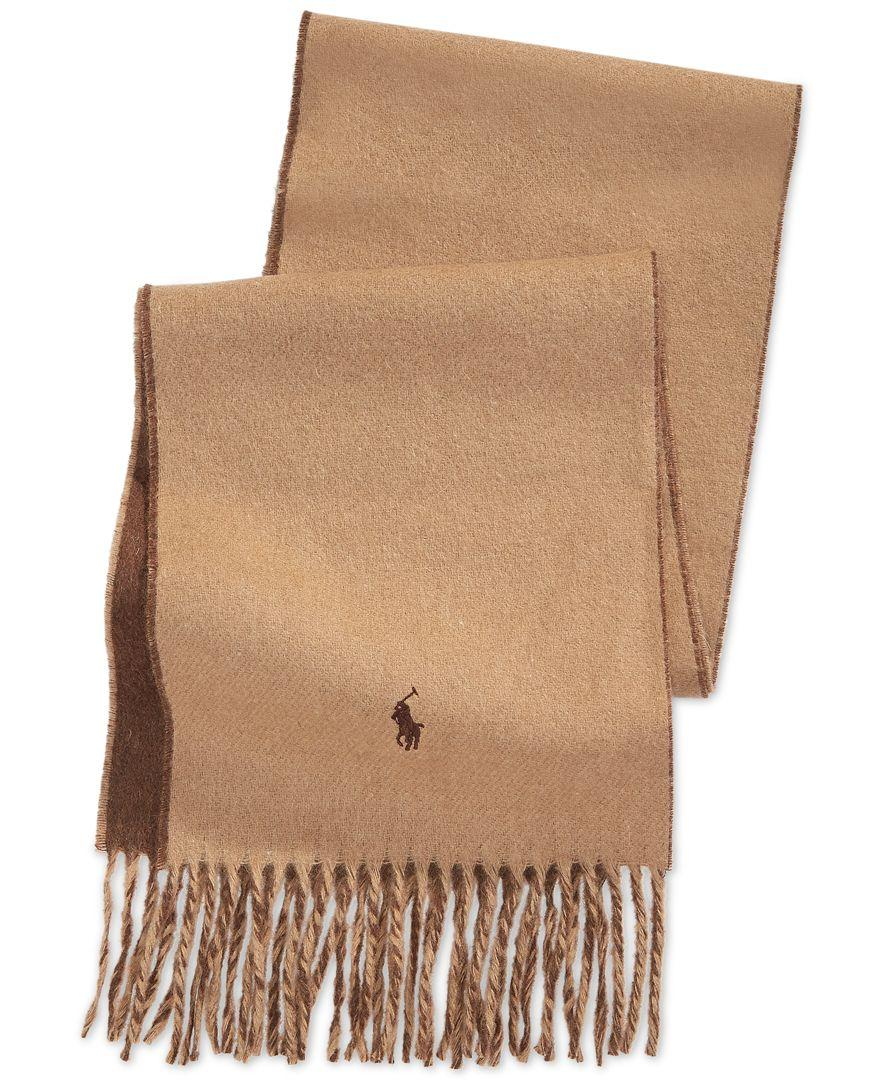 beb869a0 Polo Ralph Lauren Brown Classic Reversible Scarf for men