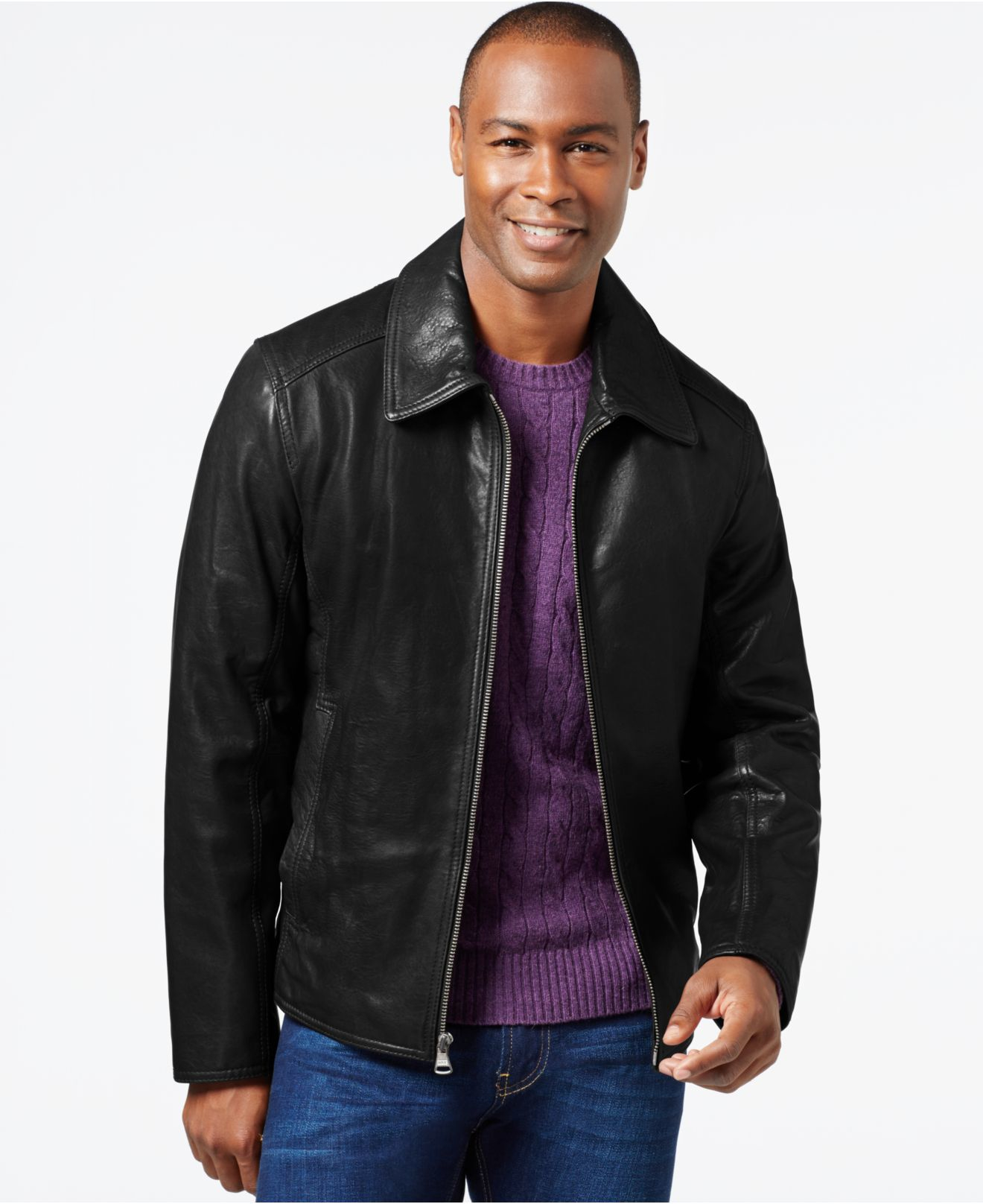 Lyst Marc New York Leather Jacket In Black For Men