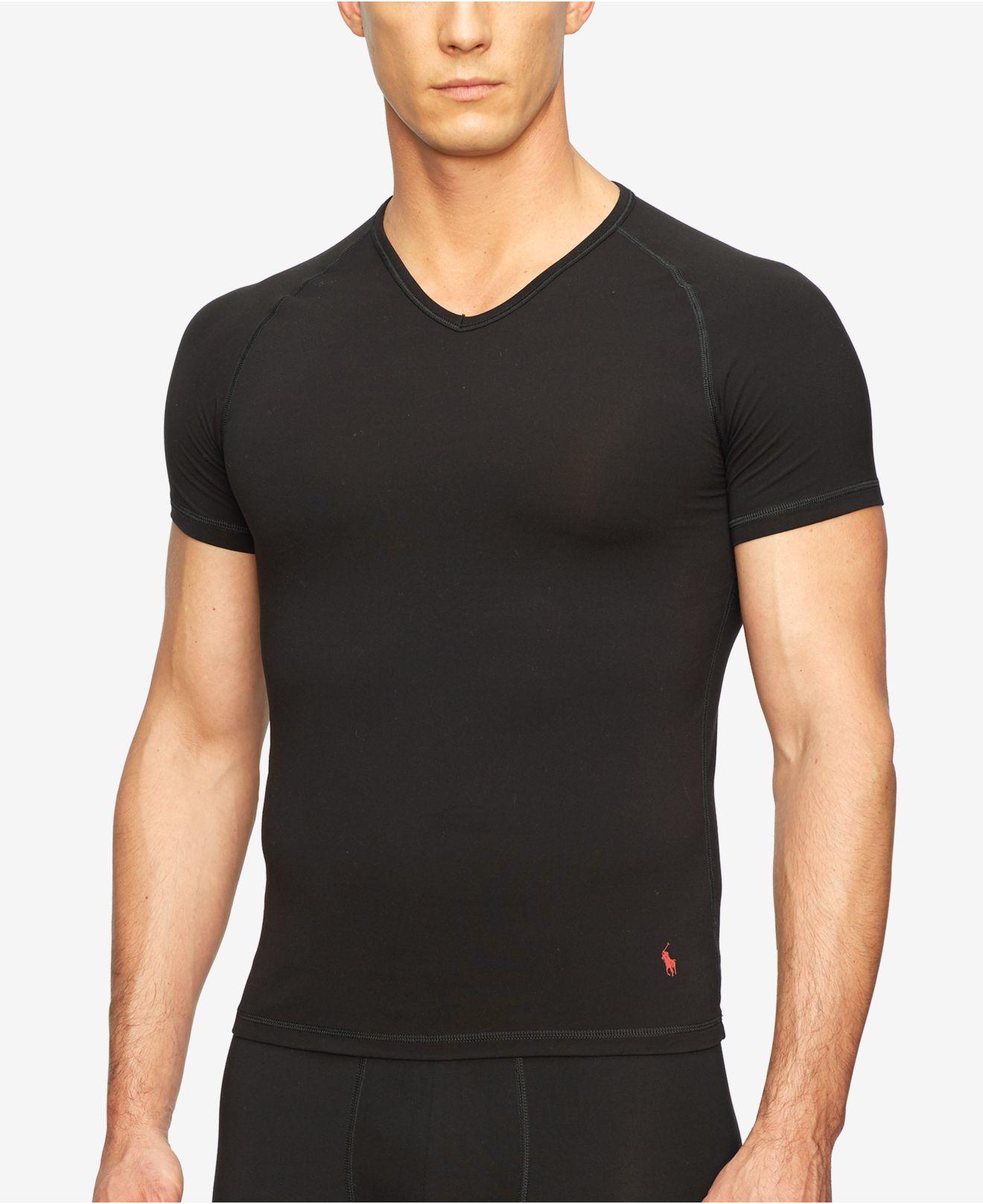 Polo Ralph Lauren Men 39 S Microfiber Undershirt In Black For