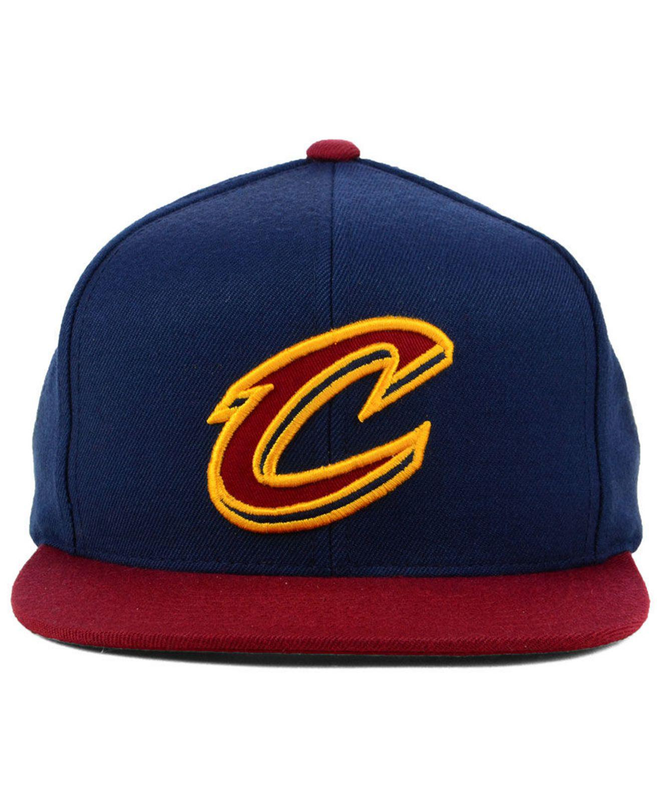 a740d8f6dcc142 ... low price lyst mitchell ness cleveland cavaliers curved mesh snapback  in blue for men d35f2 50c83