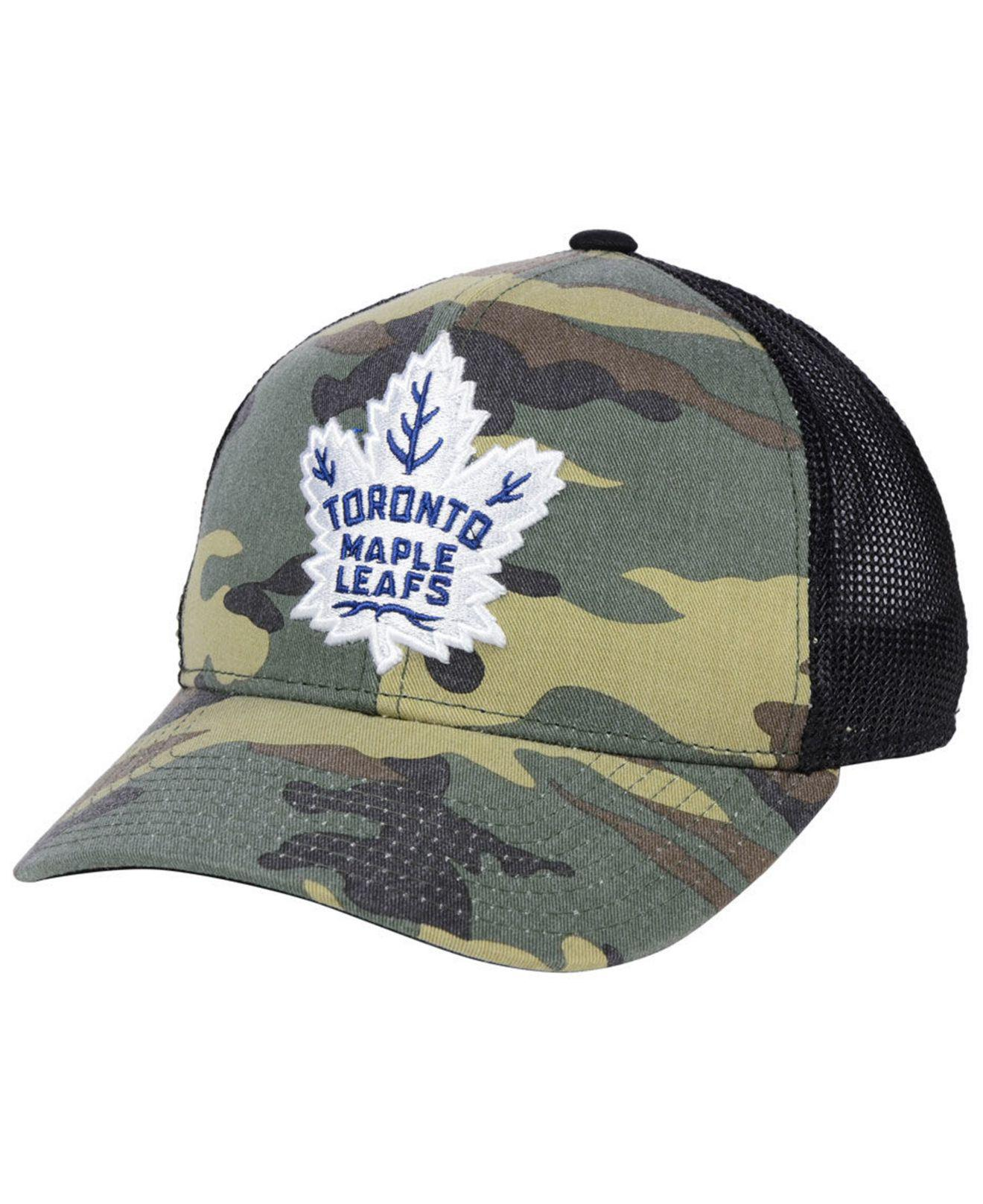 online retailer 6ffad 89c56 ... authentic adidas green toronto maple leafs camo trucker cap for men  lyst. view fullscreen 46b52 promo code for fashion fitted team hat ...