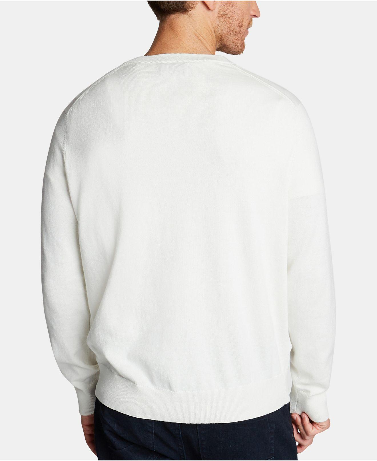 15d10712aa3 Lyst - Nautica Lightweight Jersey V-neck Sweater in White for Men