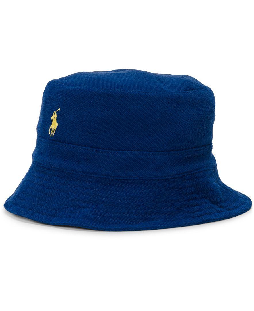 polo ralph lauren mens mesh bucket hat in blue for men lyst
