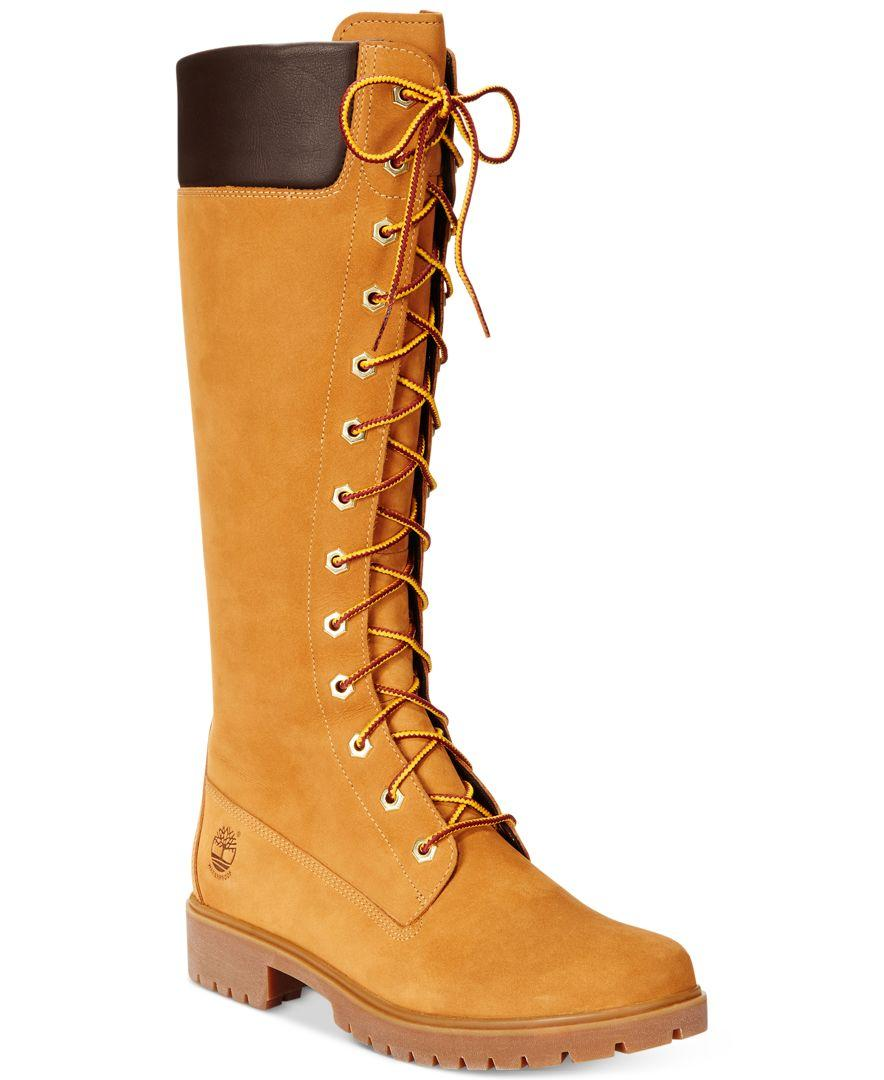 Timberland Suede Women S 14 Quot Premium Lace Up Boots In