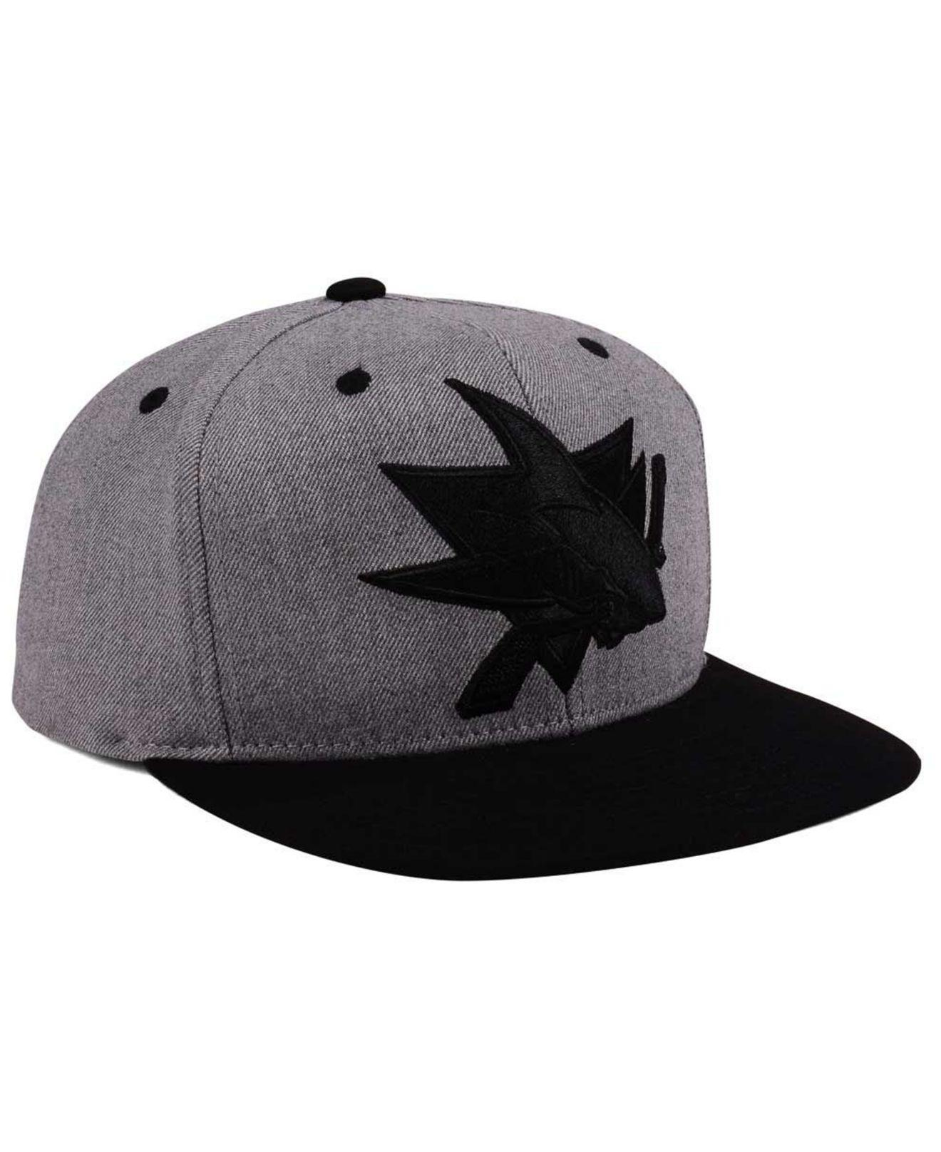 finest selection 6de03 0d424 ... italy lyst adidas san jose sharks 2 tone tonal snapback cap in black  for men 90641
