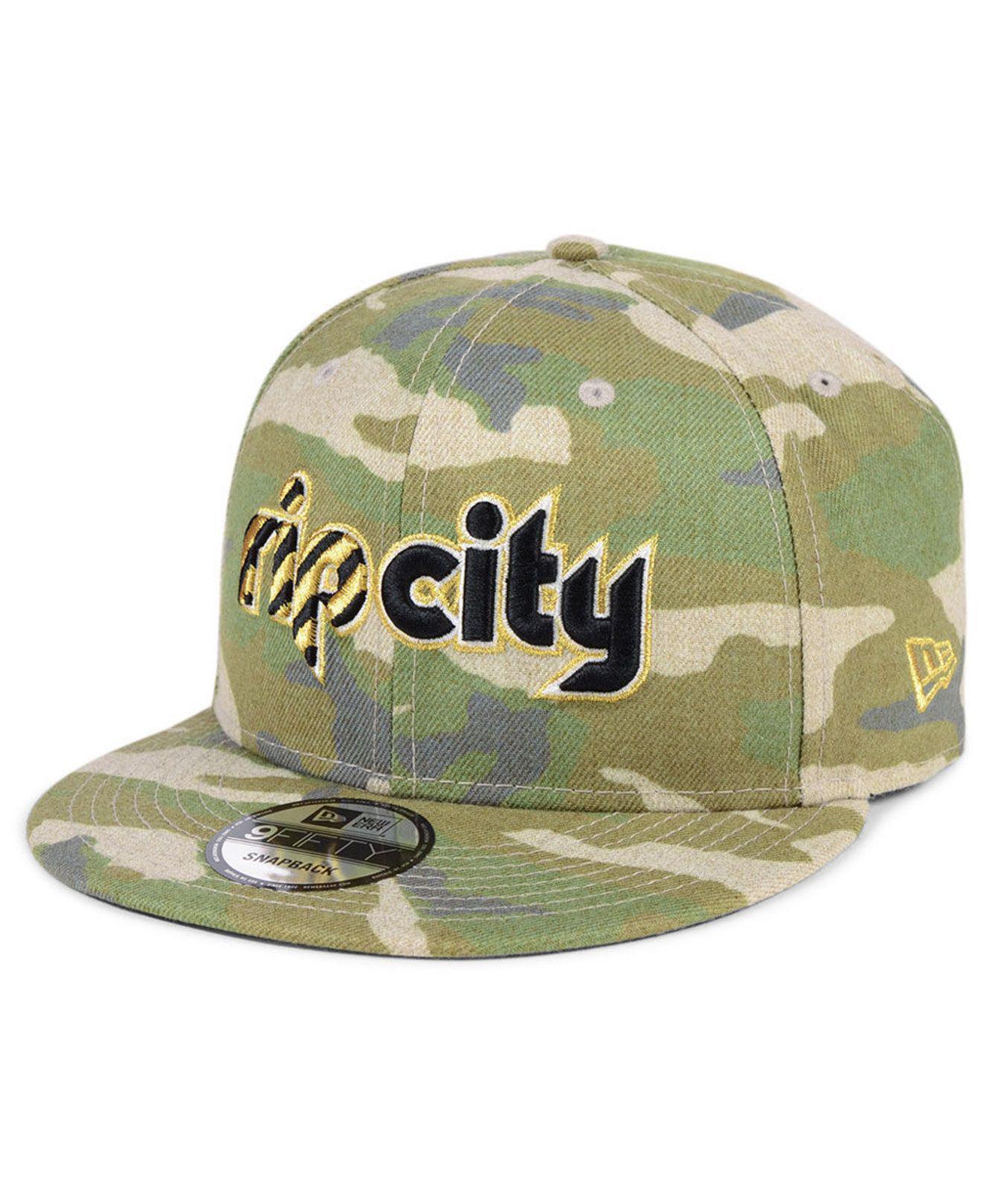 the latest c051c e0b80 KTZ. Men s Green Portland Trail Blazers Combo Camo 9fifty Snapback Cap
