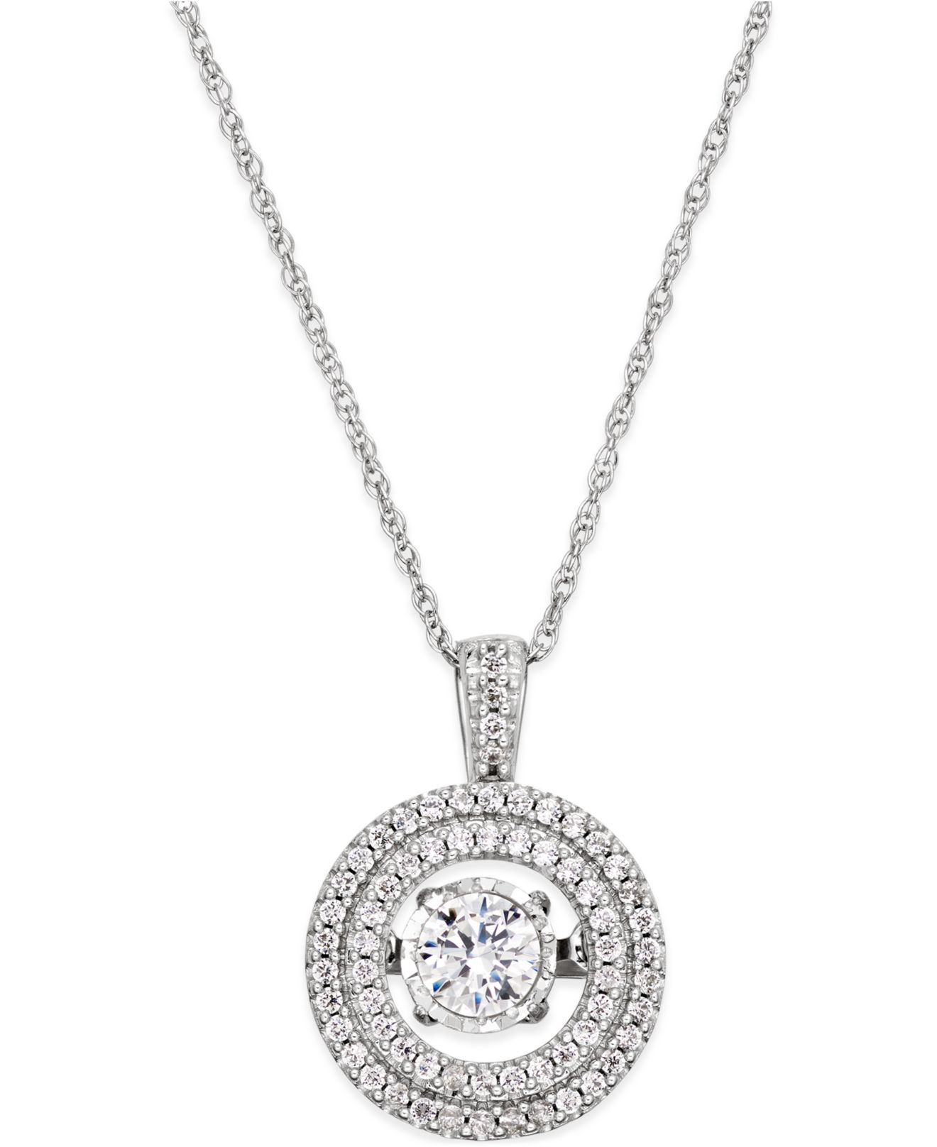 Twinkling diamond star Diamond Halo Twinkle Pendant Necklace 1 3