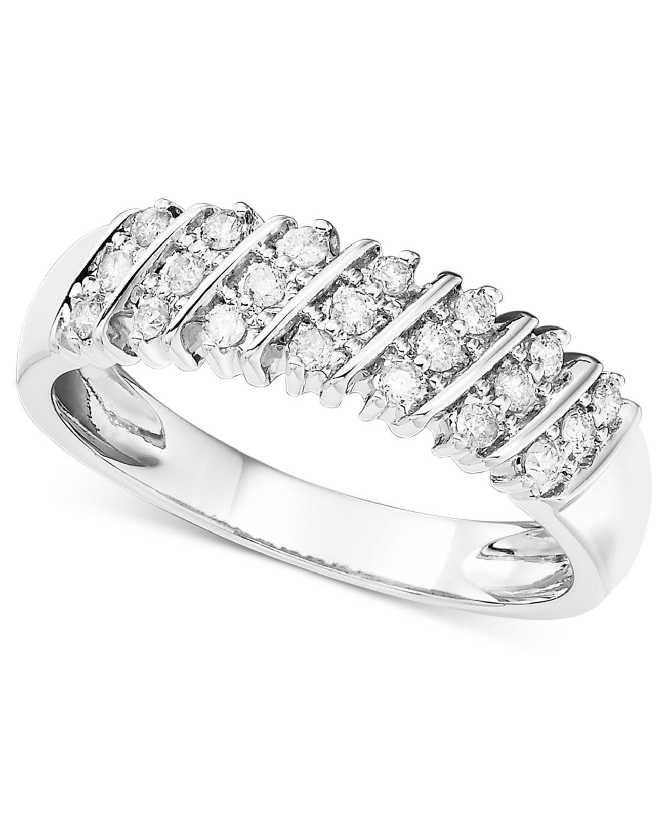 Macy's Diamond Engagement Ring And Wedding Band