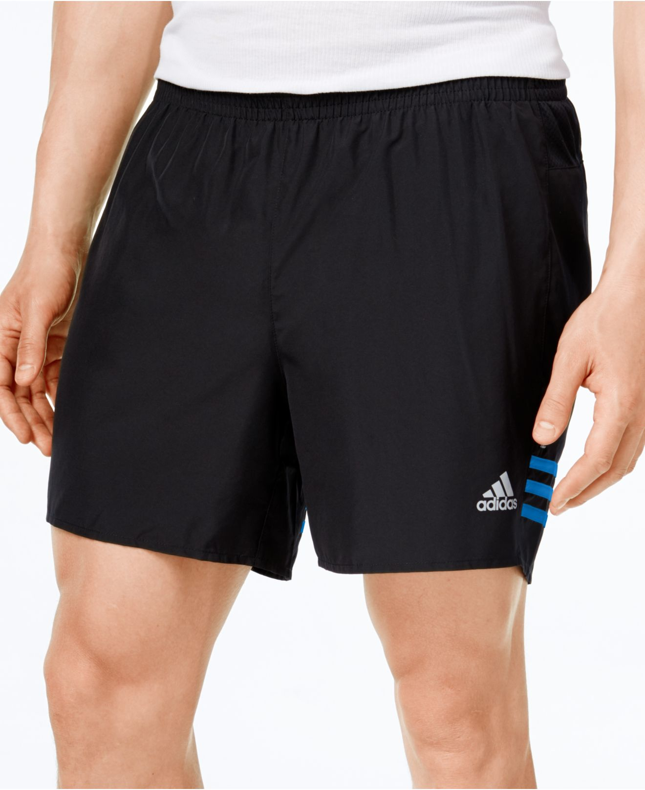 lyst adidas originals men 39 s climalite running shorts in. Black Bedroom Furniture Sets. Home Design Ideas