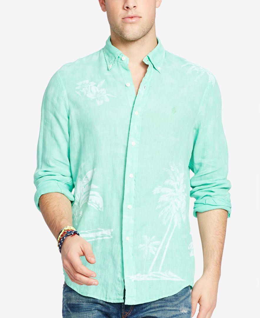 a3a1b67d Lyst - Polo Ralph Lauren Men's Long-sleeve Ombre Linen Sport Shirt ...