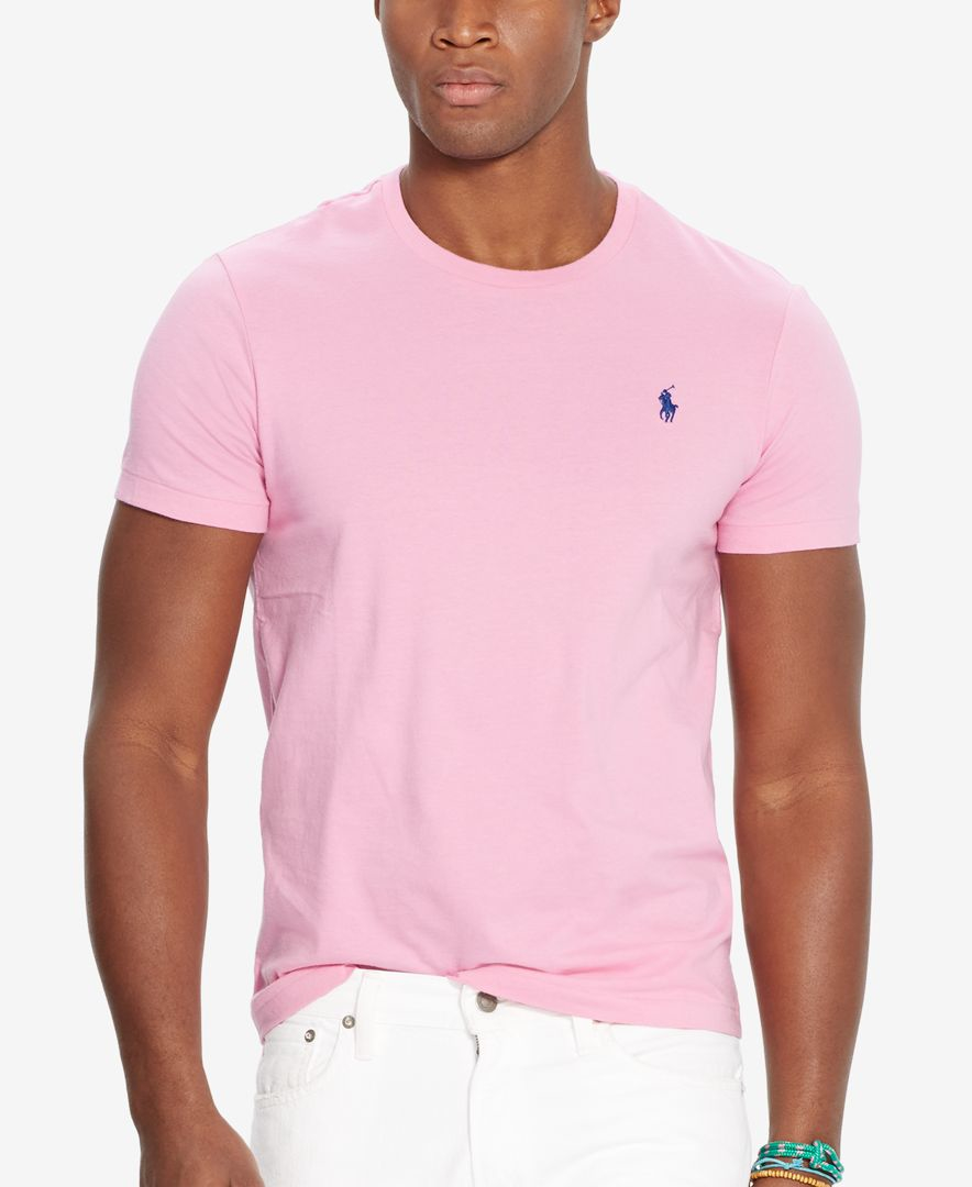 Polo ralph lauren men 39 s custom fit crew neck t shirt in for Polo custom fit t shirts