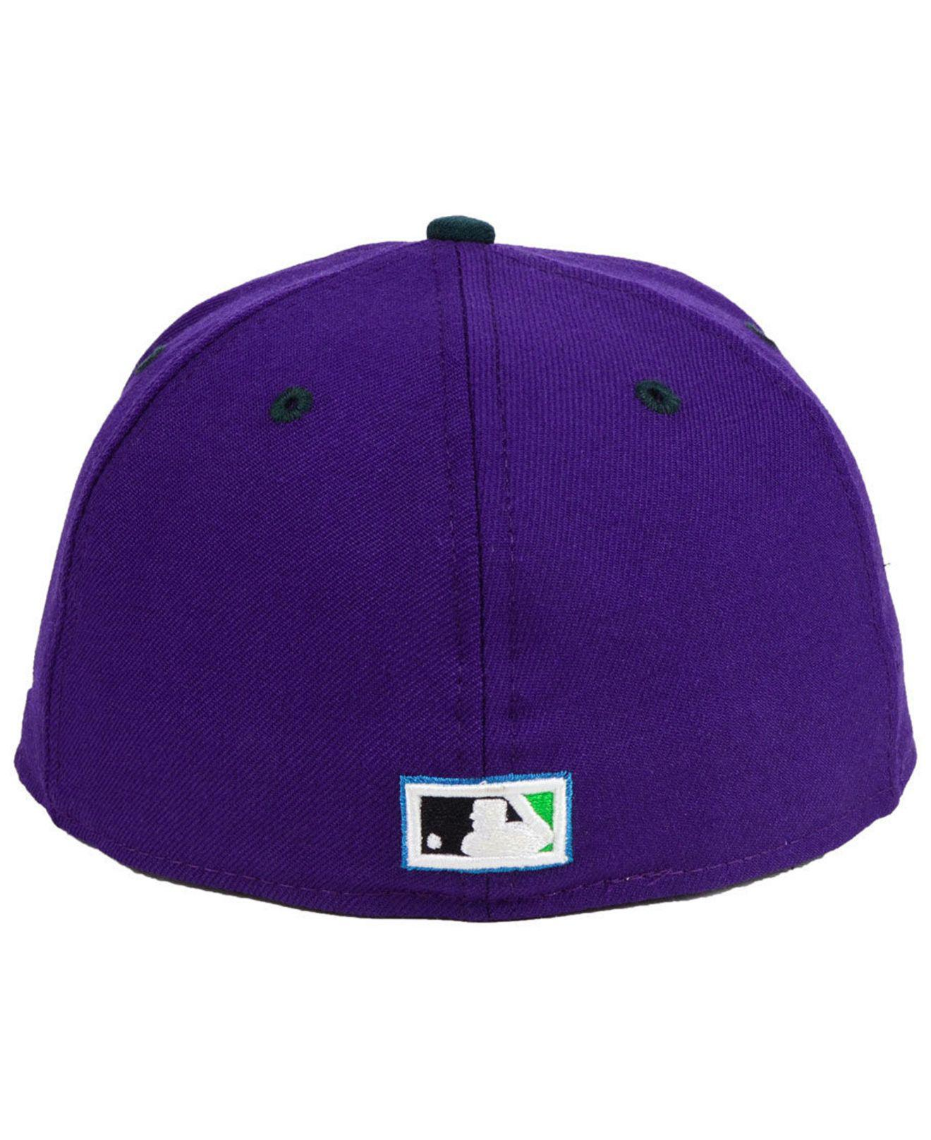 quality design 60289 a85e6 KTZ Tampa Bay Rays Retro Stock 59fifty Fitted Cap in Purple for Men ...