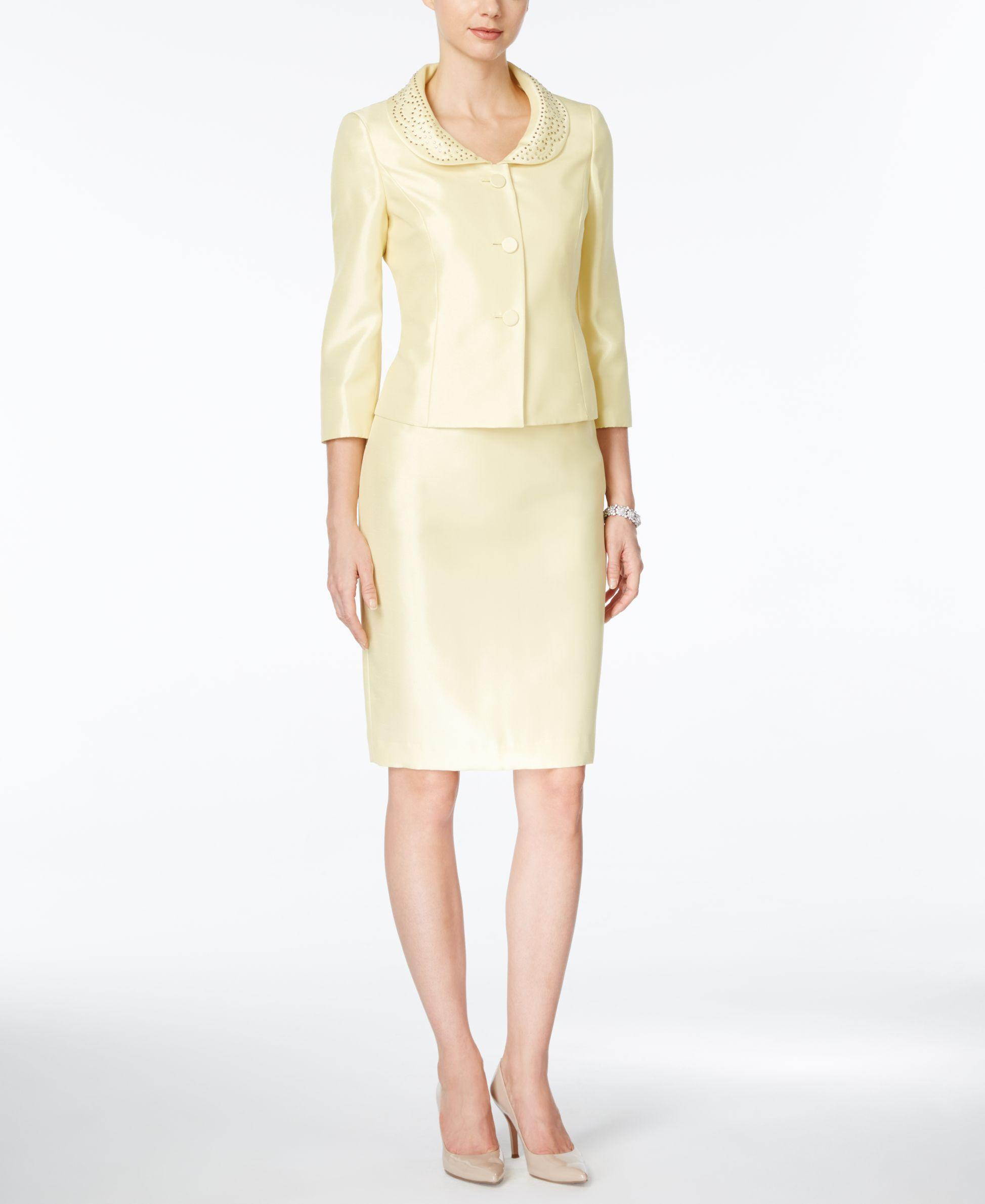 Yellow Skirt Suits 14