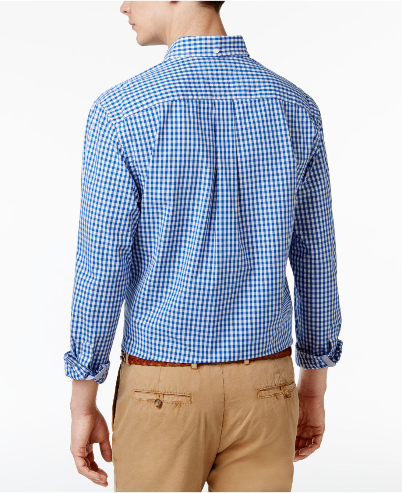 055a714ce Lyst - Tommy Hilfiger Long-sleeve Twain Gingham Check Classic Fit ...