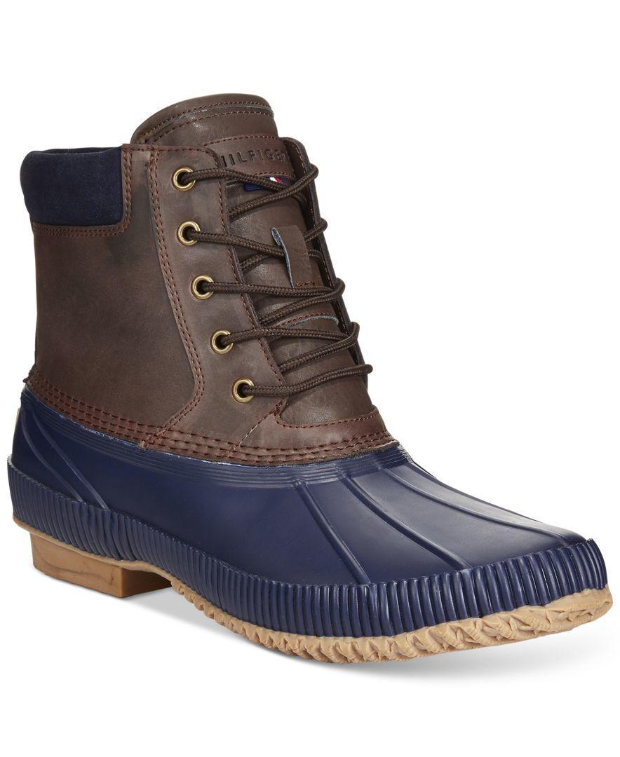Tommy hilfiger Men's Charlie Duck Waterproof Boots in Blue ...