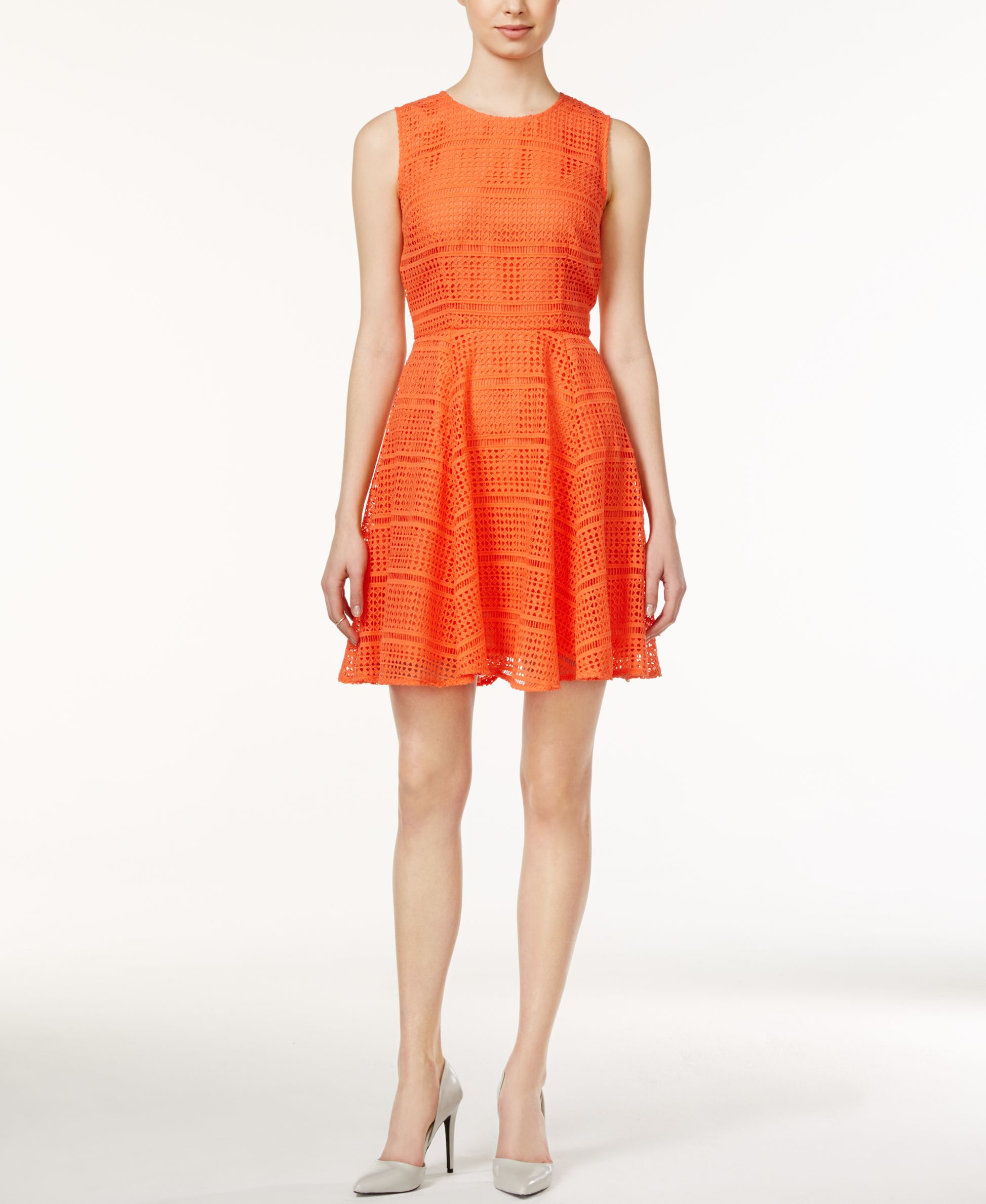 Maison Jules Sleeveless Lace Fit Amp Flare Dress Only At