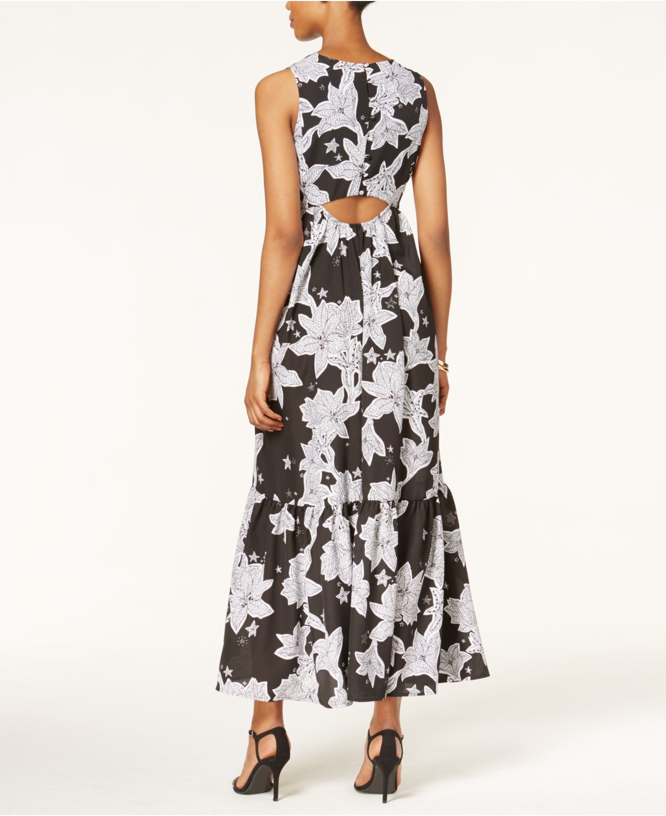 Cece By Cynthia Steffe Sleeveless Printed Maxi Dress In