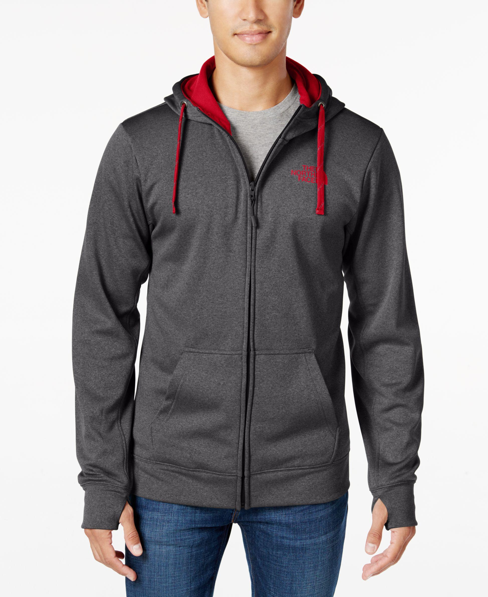 870234a77 The North Face Gray Men's Surgent Technical Zip Hoodie for men