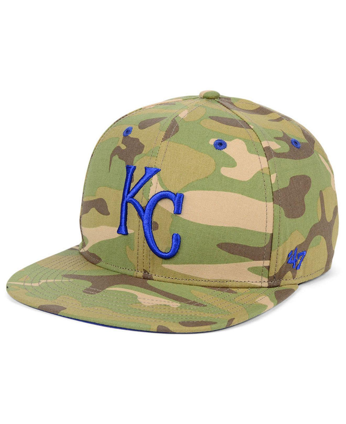 new design shopping 2018 shoes 47 Brand Wool Kansas City Royals Blockade Strapback Cap in Green ...