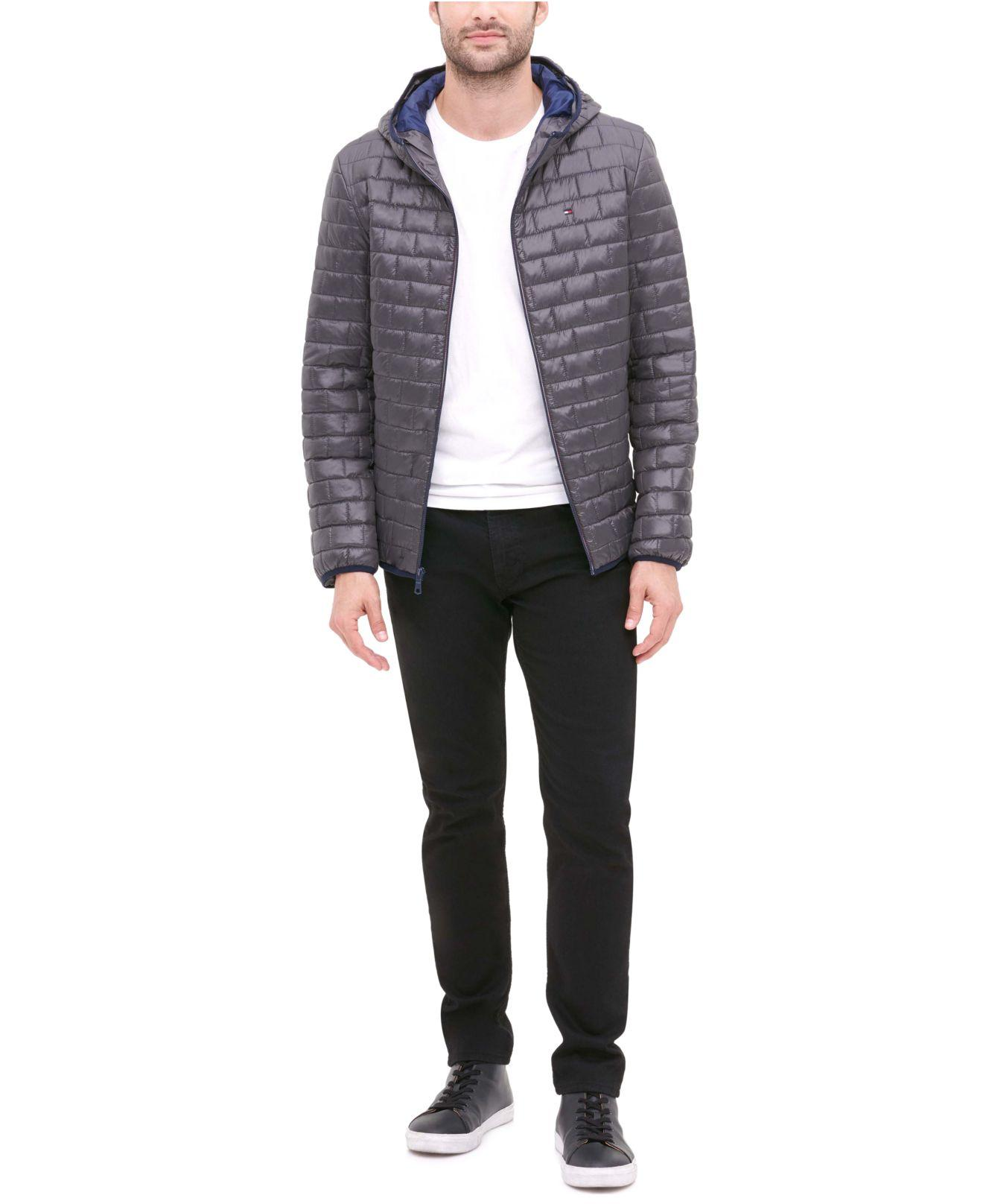 Tommy Hilfiger Synthetic Brick Quilted Hooded Packable ...