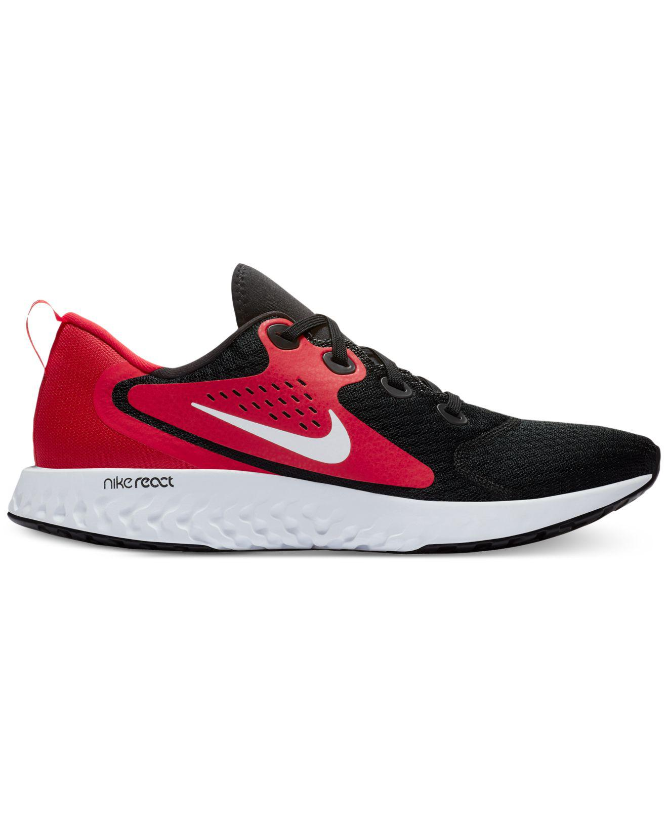 b6b92cf2201b Lyst - Nike Legend React Running Sneakers From Finish Line in Red ...