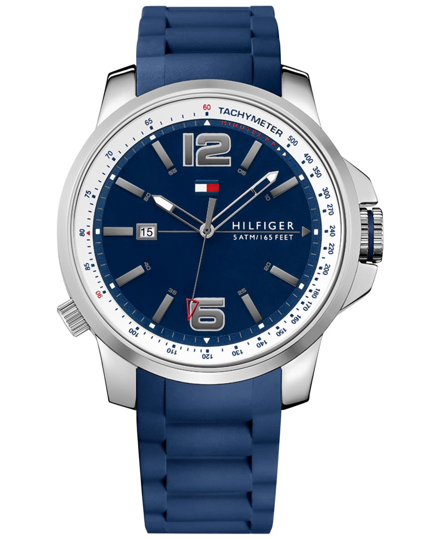 hilfiger s cool sport blue silicone