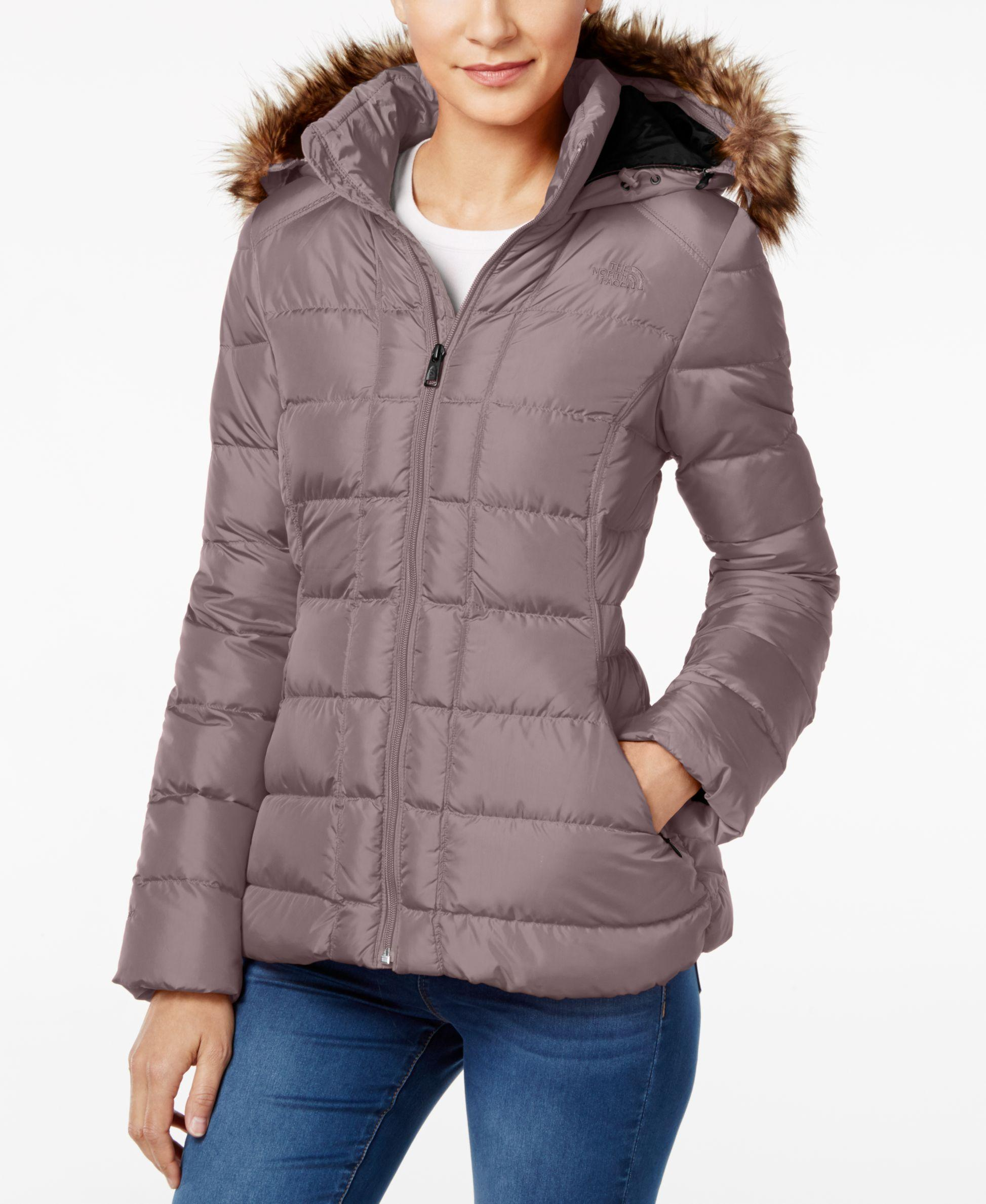 52ab2e990c Lyst - The North Face Gotham Faux-fur-trim Hooded Coat in Gray