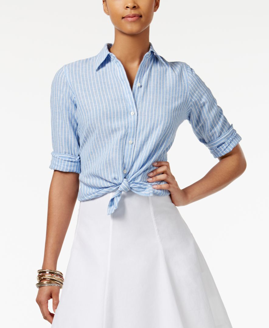 Lyst American Living Striped Shirt Only At Macy 39 S In Blue
