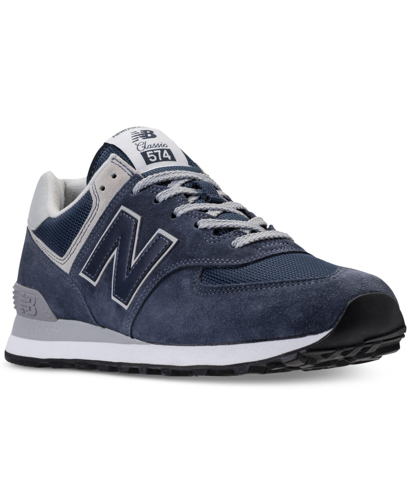 super popular c129f c584d New Balance. Blue Men s Classic 574 Evergreen Suede Lace Up Sneakers