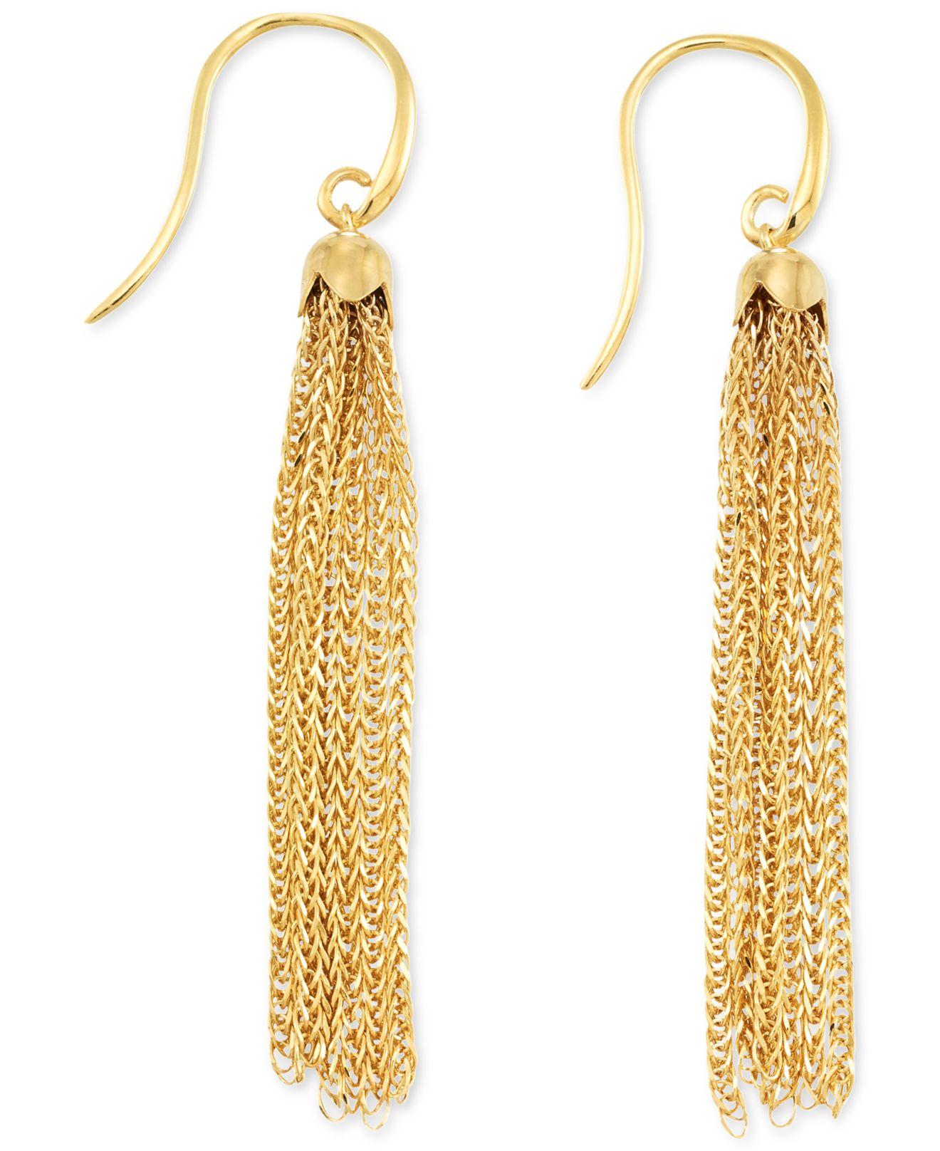 Macy S Tassel Drop Earrings In 14k Gold Metallic Lyst
