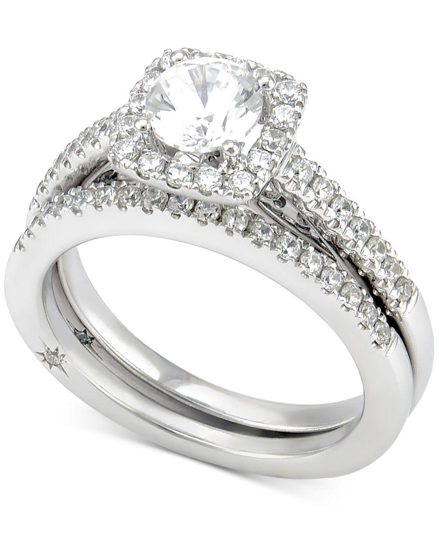 Marchesa Certified Diamond Bridal Set 1 1 4 Ct T w In 18k White Gold in W
