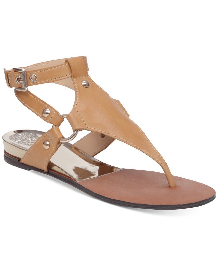 Vince Camuto Adalina Thong Flat Sandals In Brown Lyst