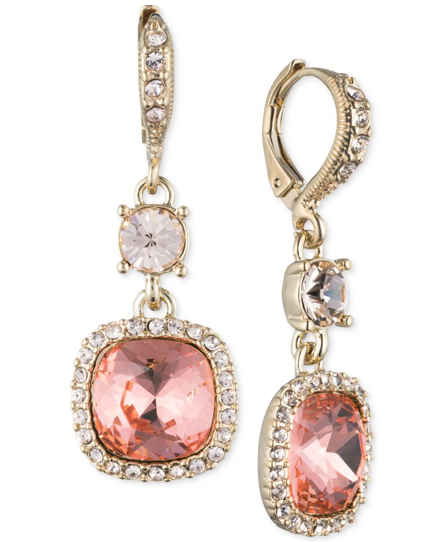 Red Givenchy Chandelier Earrings: Givenchy Crystal Pave Double Drop Earrings In Red