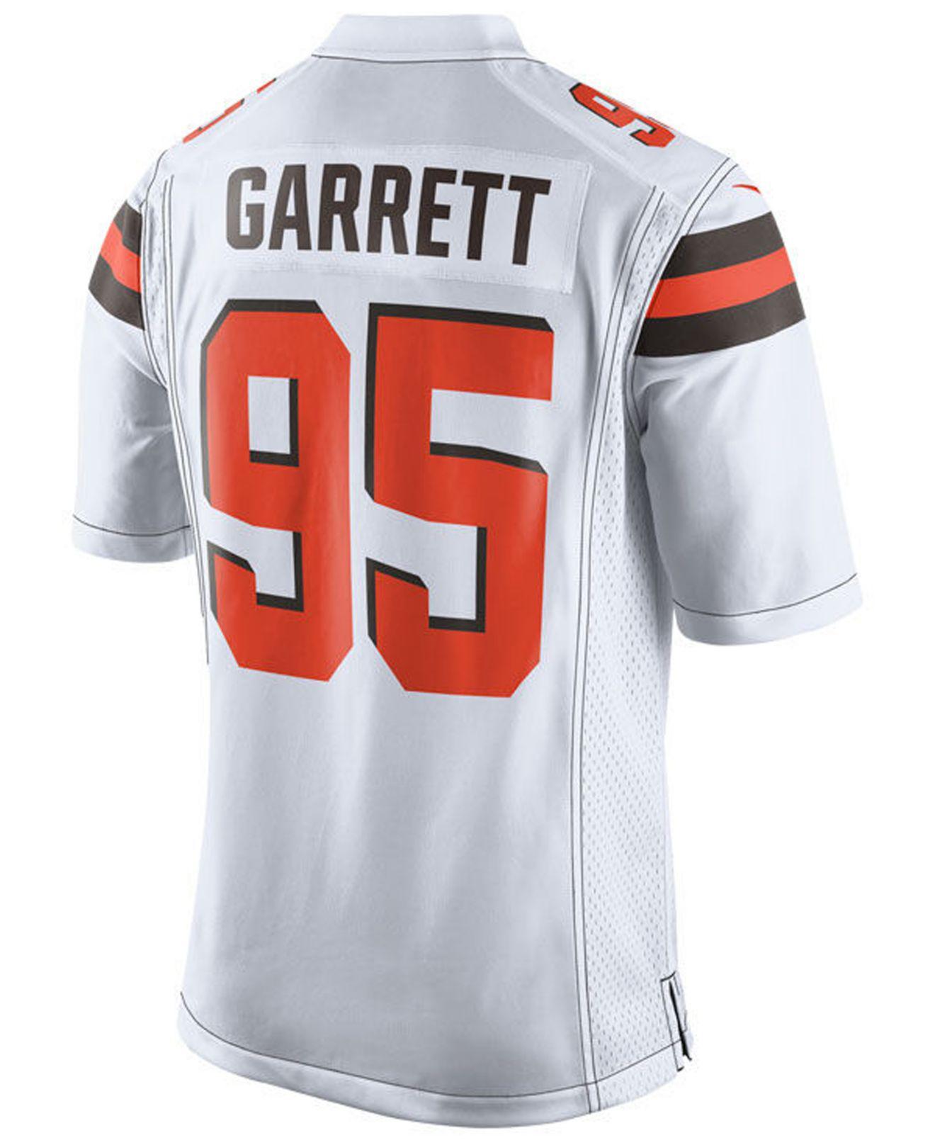 the latest 363e9 4a4f2 Men's White Myles Garrett Cleveland Browns Game Jersey