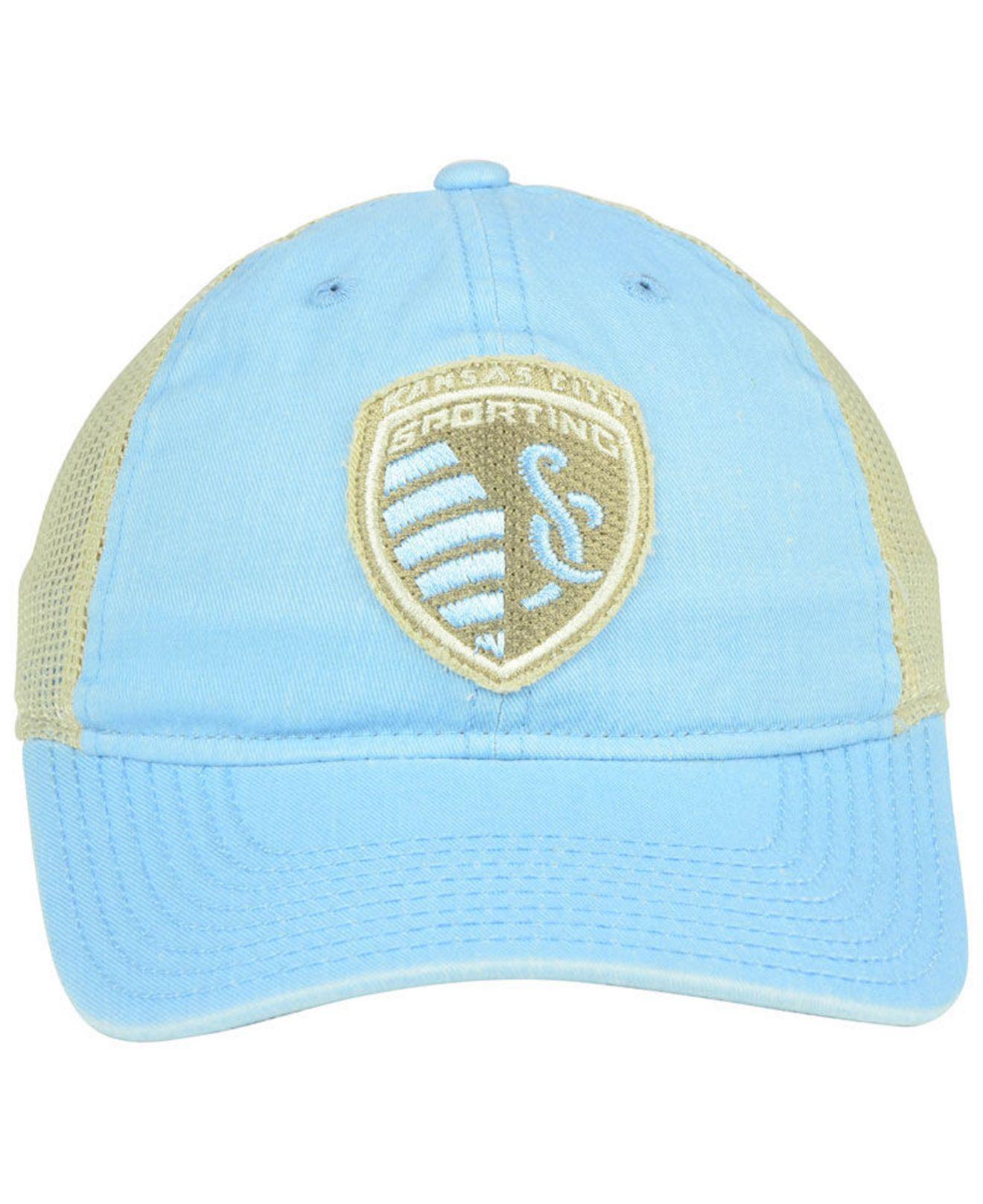 sale retailer 2f5f2 ae9d8 ... czech lyst adidas sporting kansas city bleached trucker cap in blue  7e566 272ed