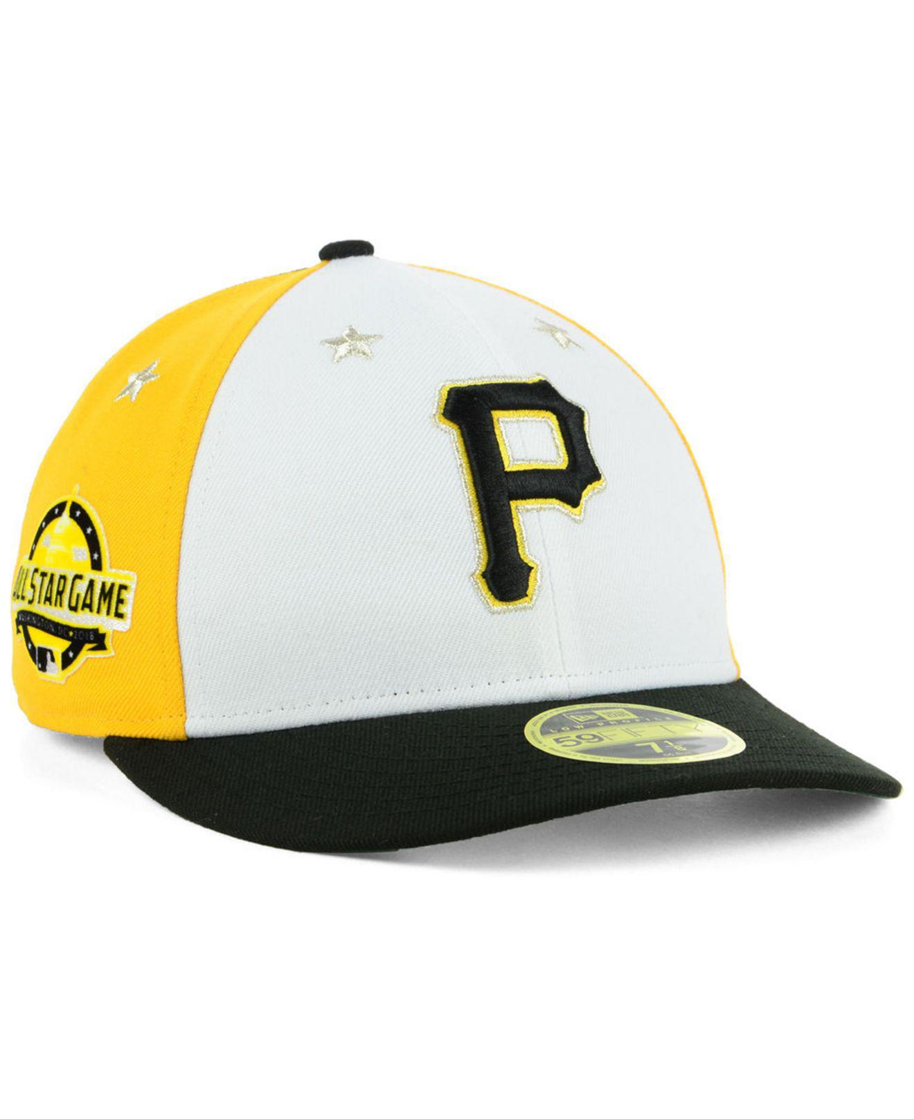 0d3cc9c9503 KTZ - Black Pittsburgh Pirates All Star Game Patch Low Profile 59fifty  Fitted Cap 2018 for. View fullscreen
