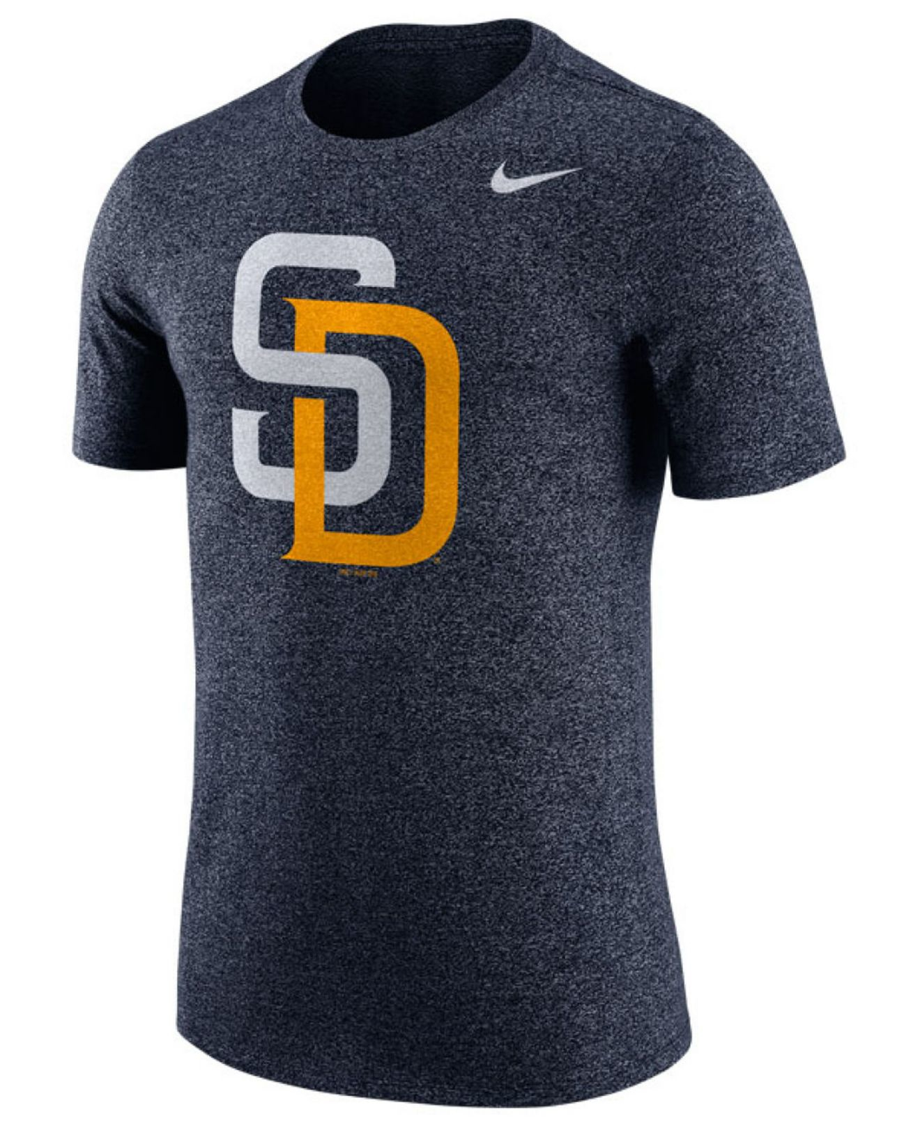 Nike men 39 s san diego padres marled t shirt in gray for men for T shirt screen printing san diego