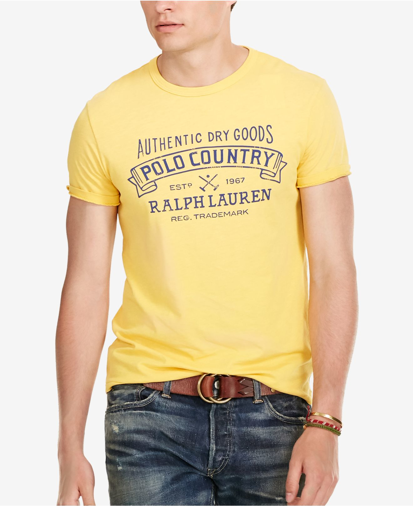 Polo ralph lauren men 39 s custom fit graphic t shirt in for Polo custom fit t shirts