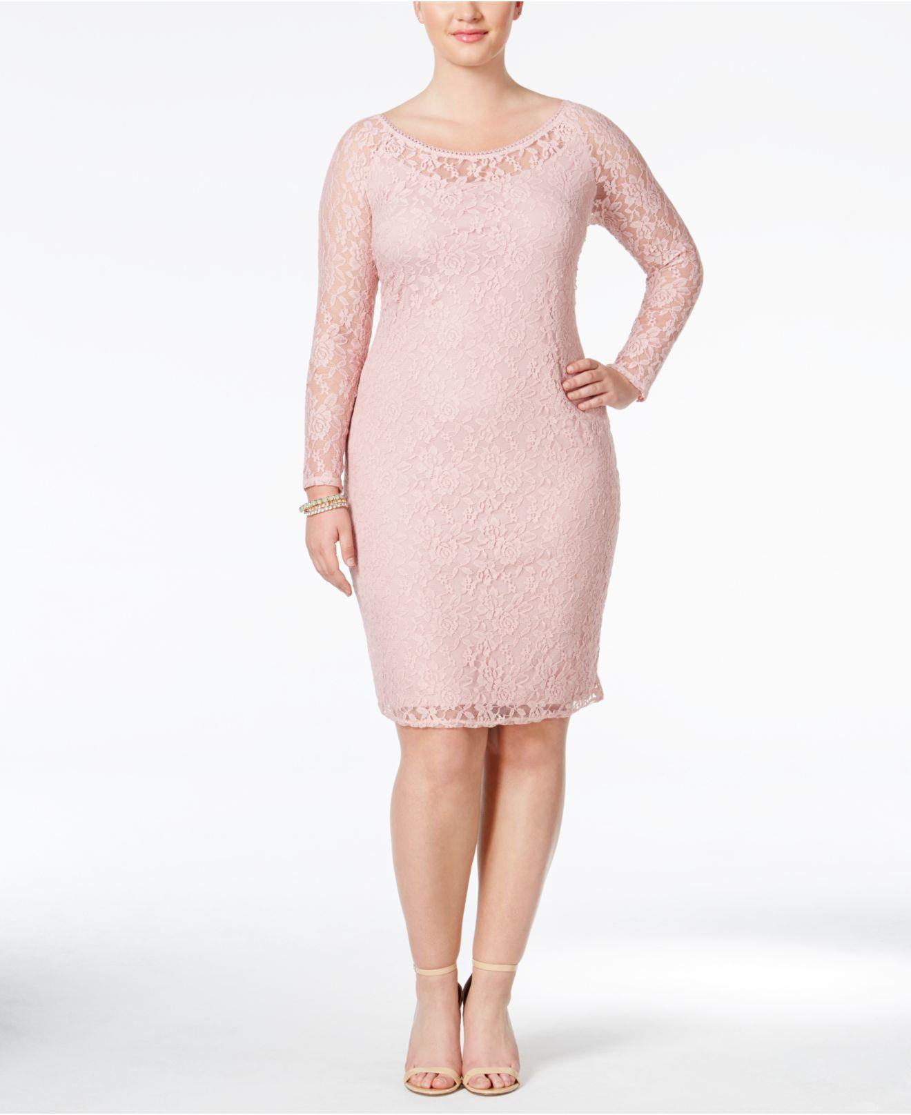 Bodycon blush long dresses plus size women france work