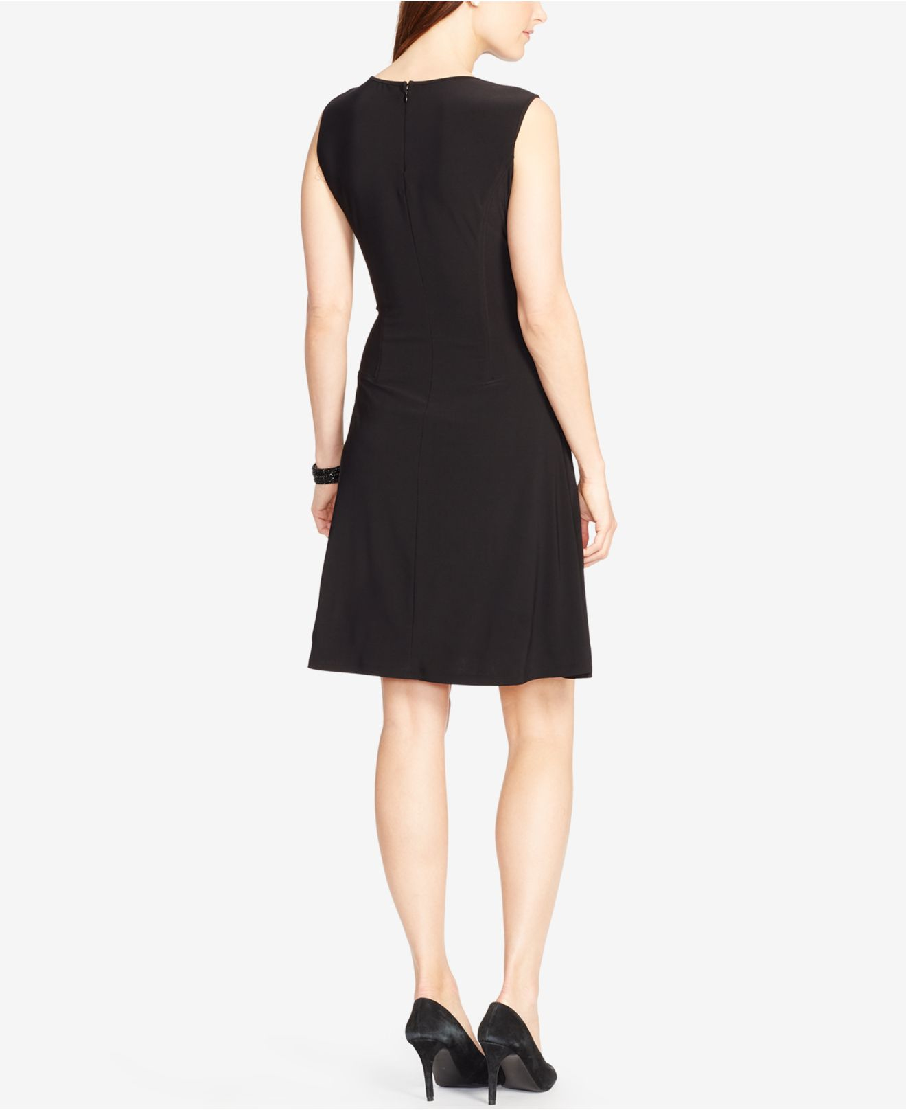 Lyst American Living A Line Dress In Black