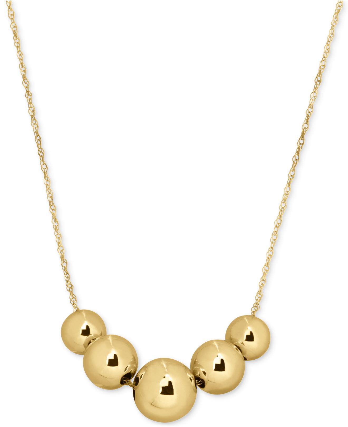 macy s large bead collar necklace in 10k gold in metallic