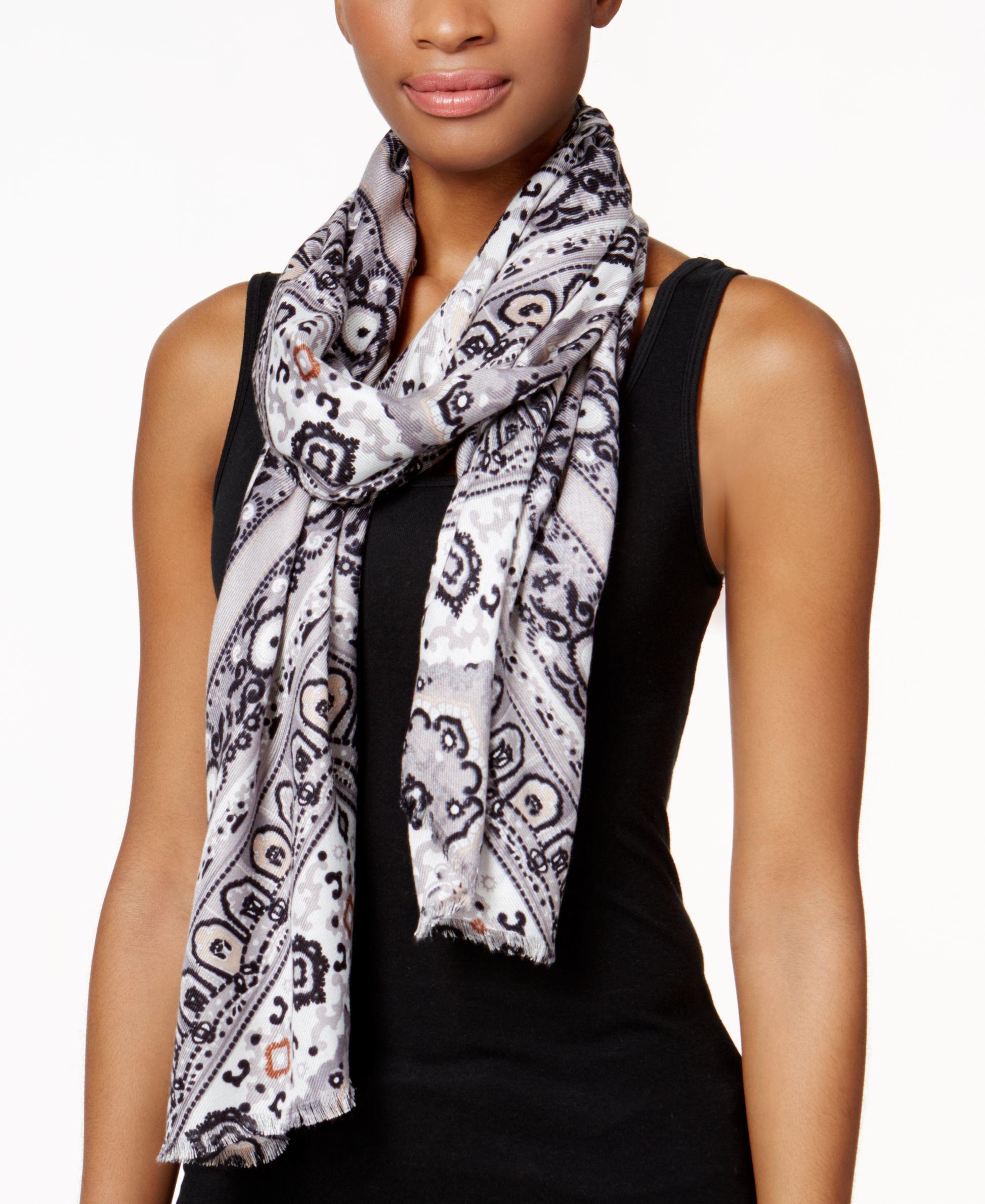 inc international concepts iconic paisley print scarf