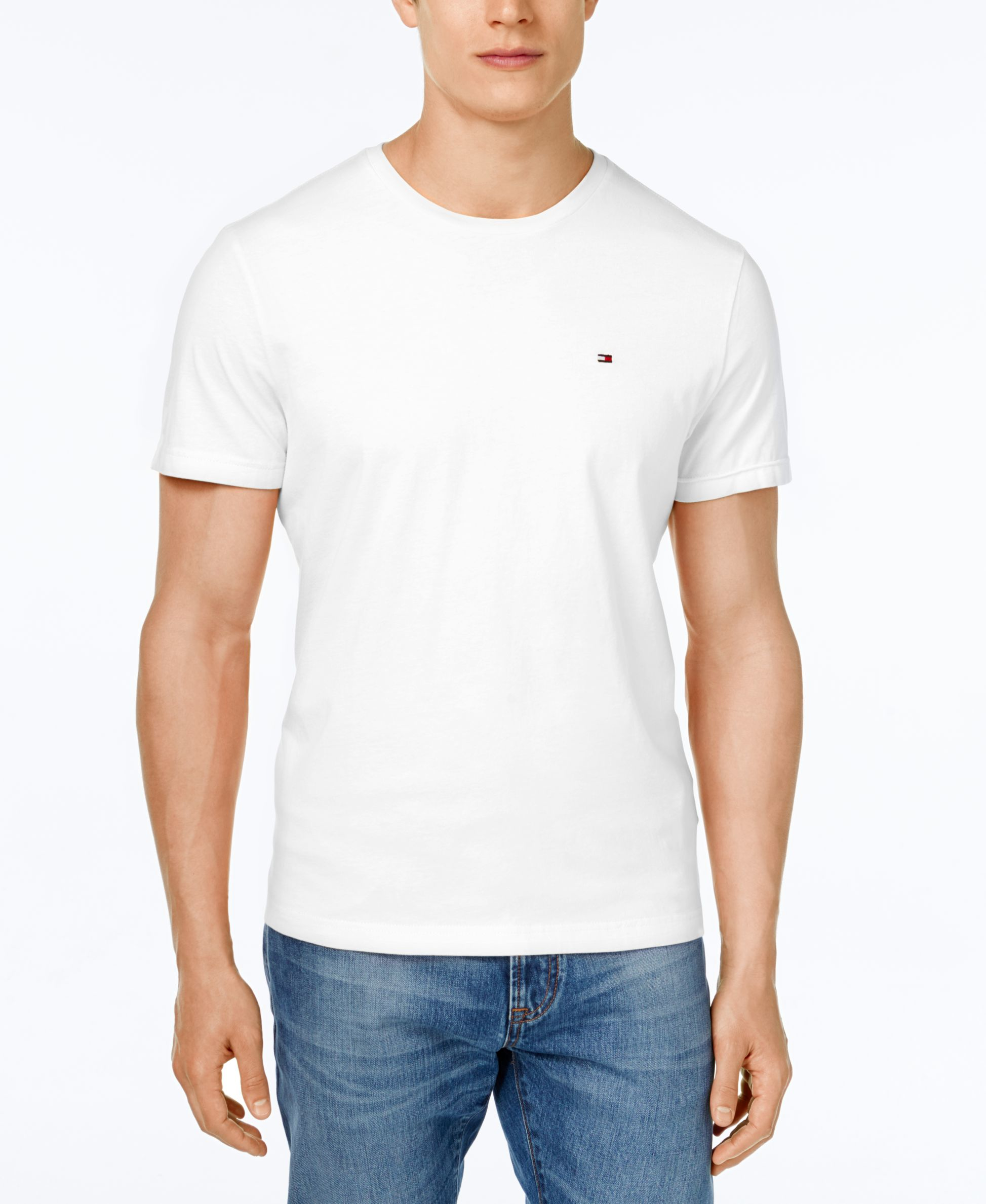 tommy hilfiger big and tall men 39 s beach crew neck t shirt in white for men lyst. Black Bedroom Furniture Sets. Home Design Ideas