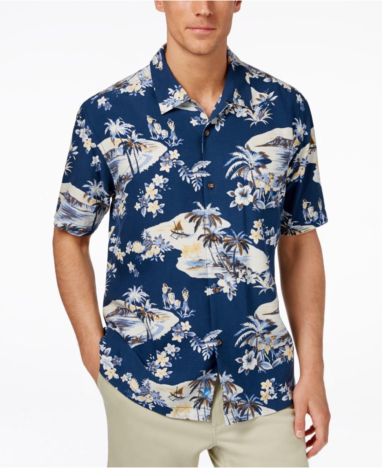 Lyst Tommy Bahama Men 39 S Lazy Luau Tropical Print Silk